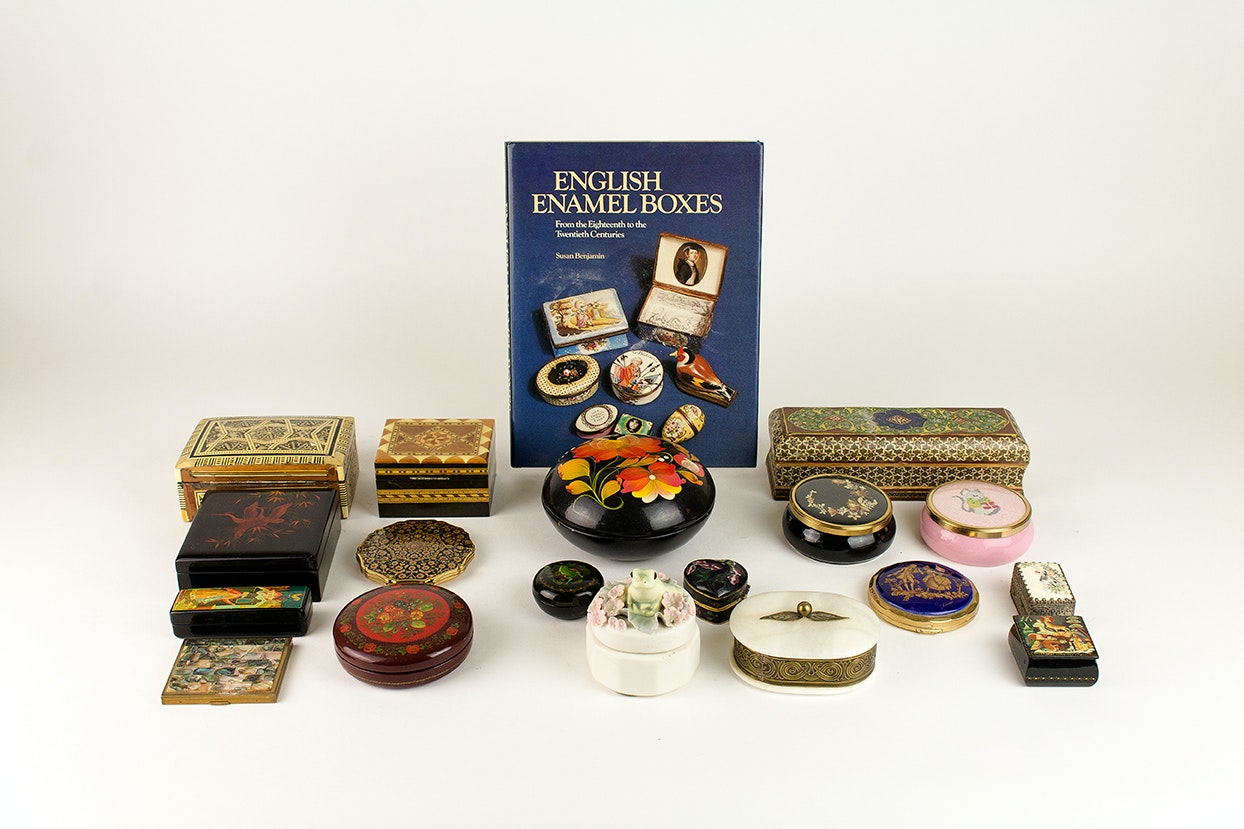Generous Collection of Vintage Trinket Boxes