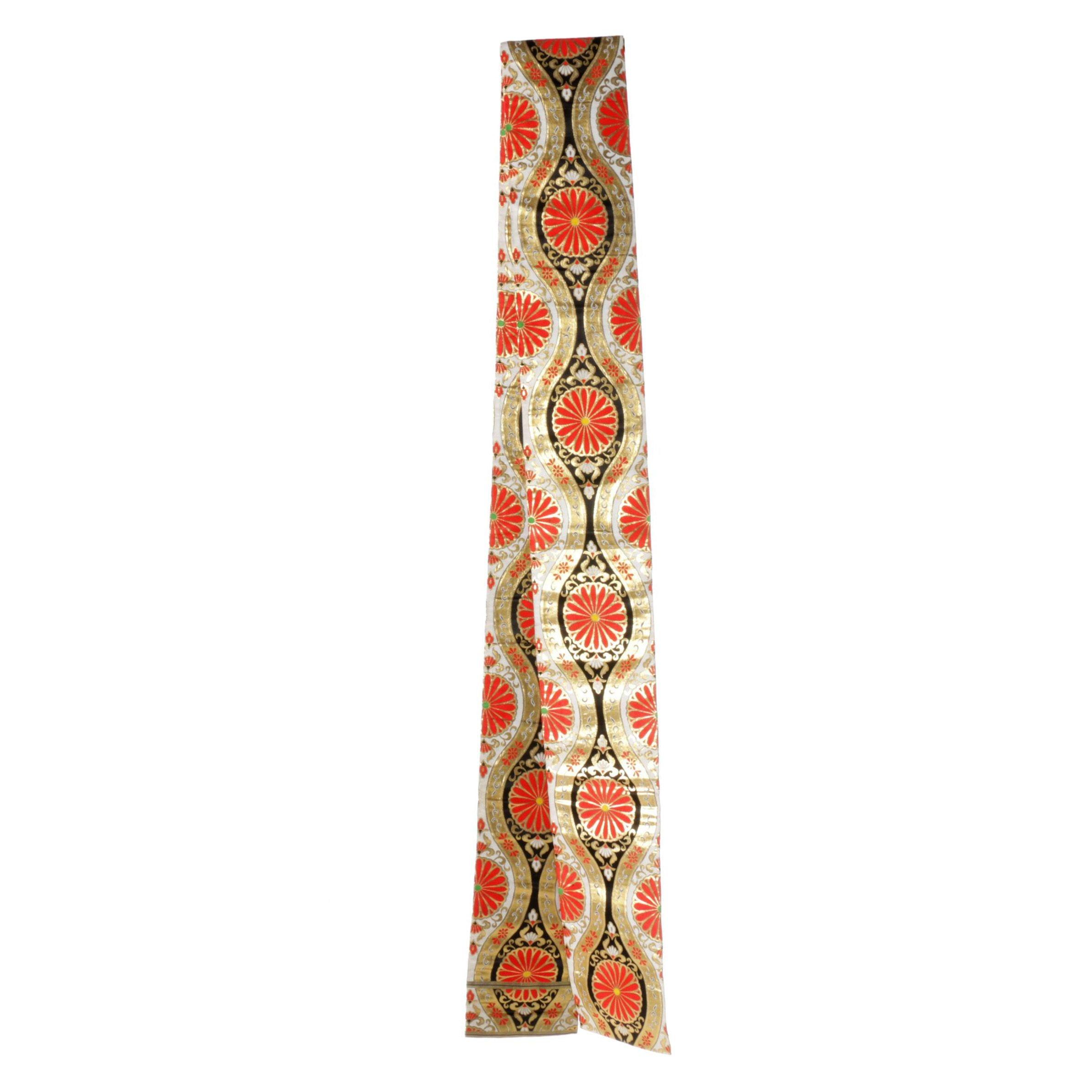 Circa 1940s Vintage Hand Sewn Silk Maru Obi