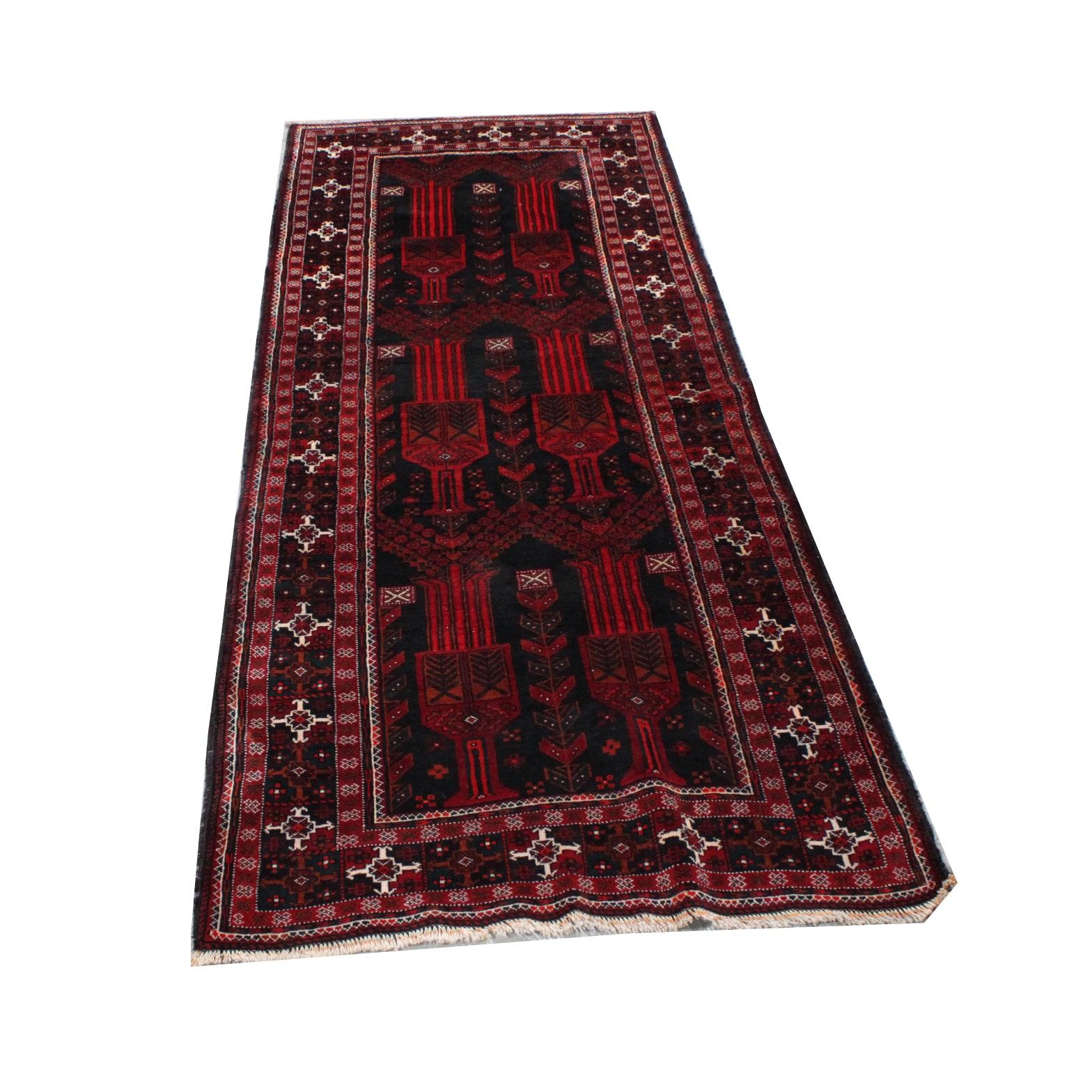 Hand-Knotted Turkmen Carpet Runner