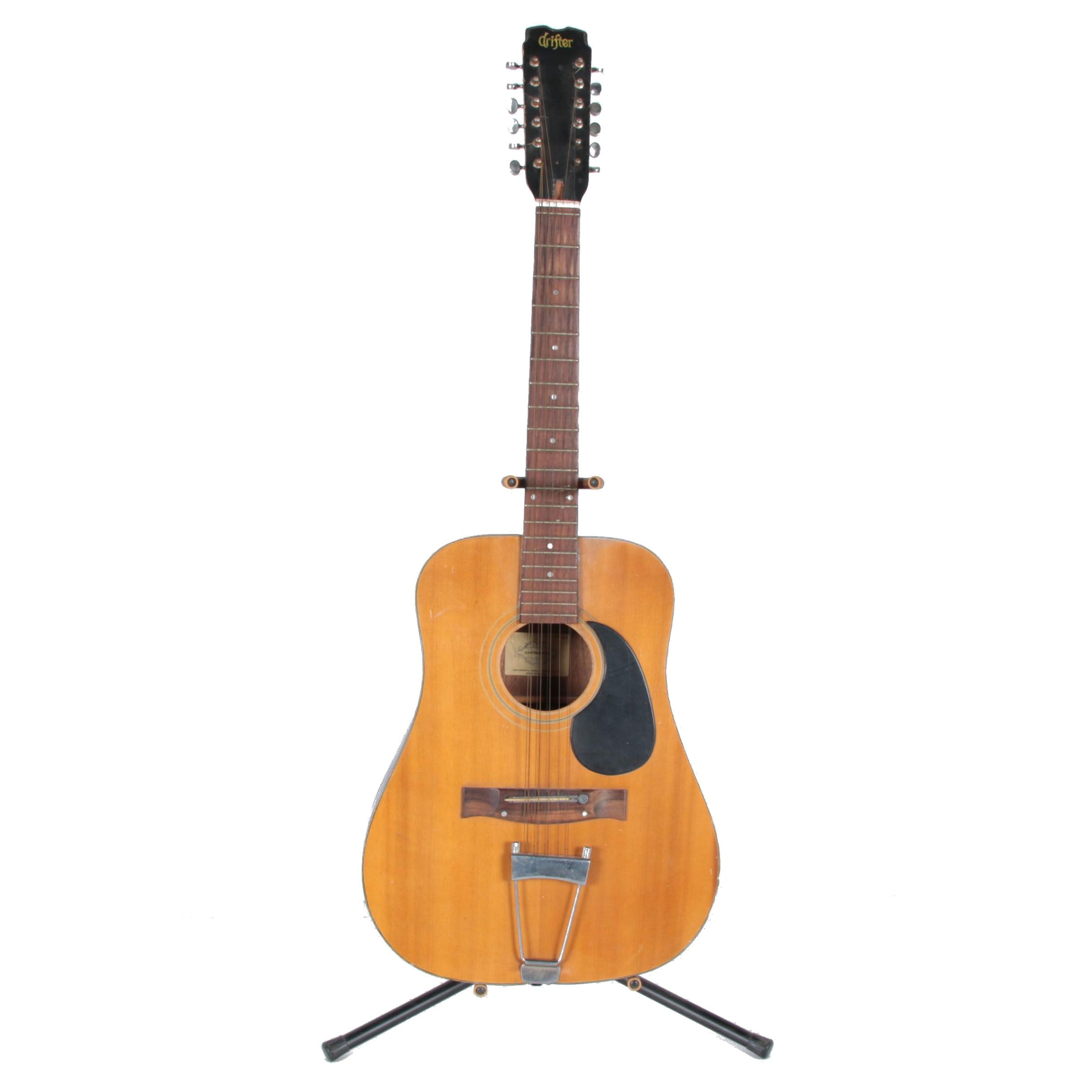 """Vintage Continental """"Drifter"""" 12-String Acoustic Guitar"""