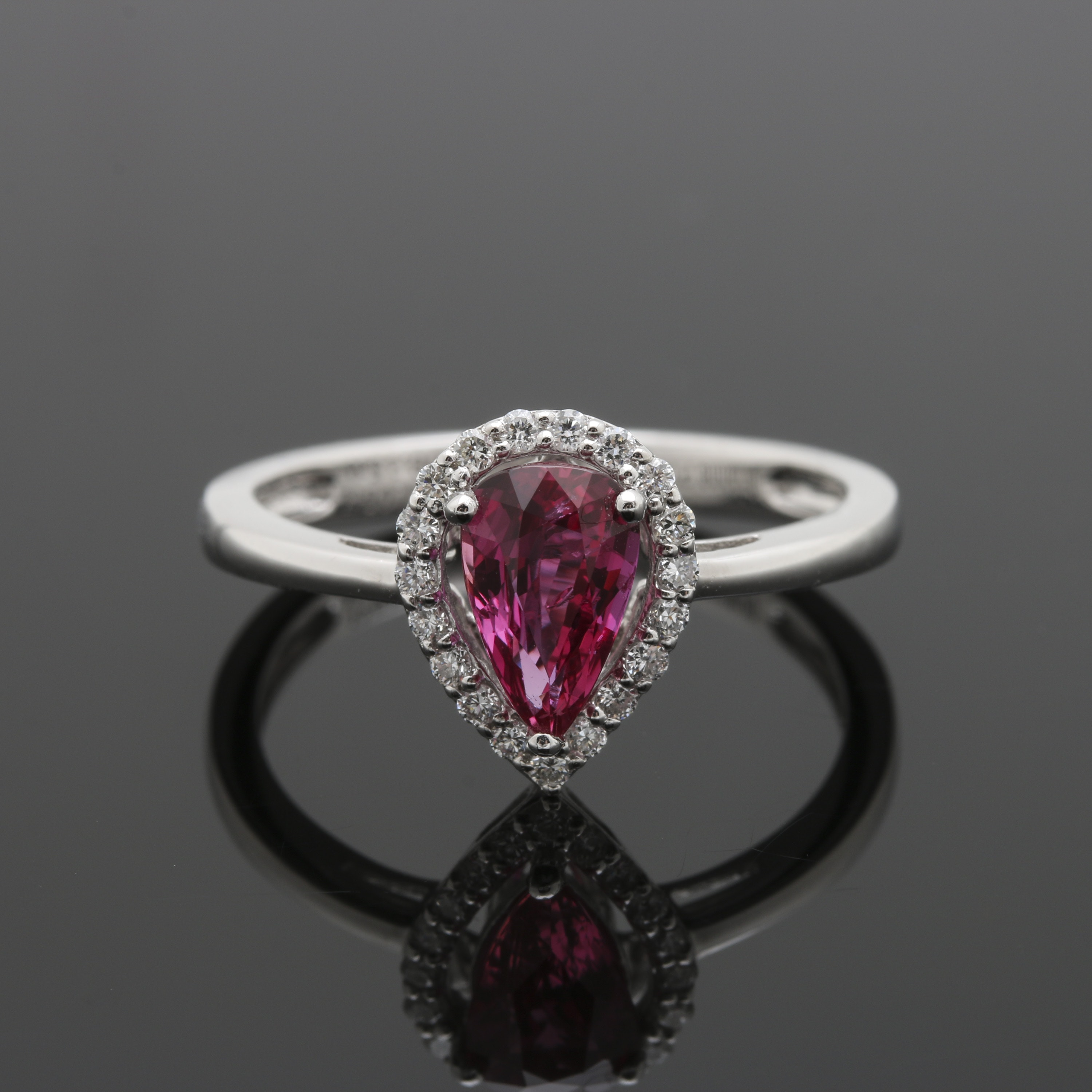 Platinum 1.05 CT Ruby and Diamond Ring With GIA Certificate
