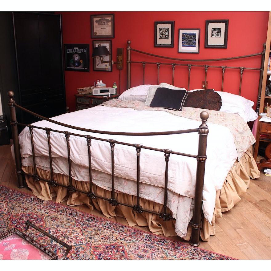 California King Metal Bed Frame Ebth