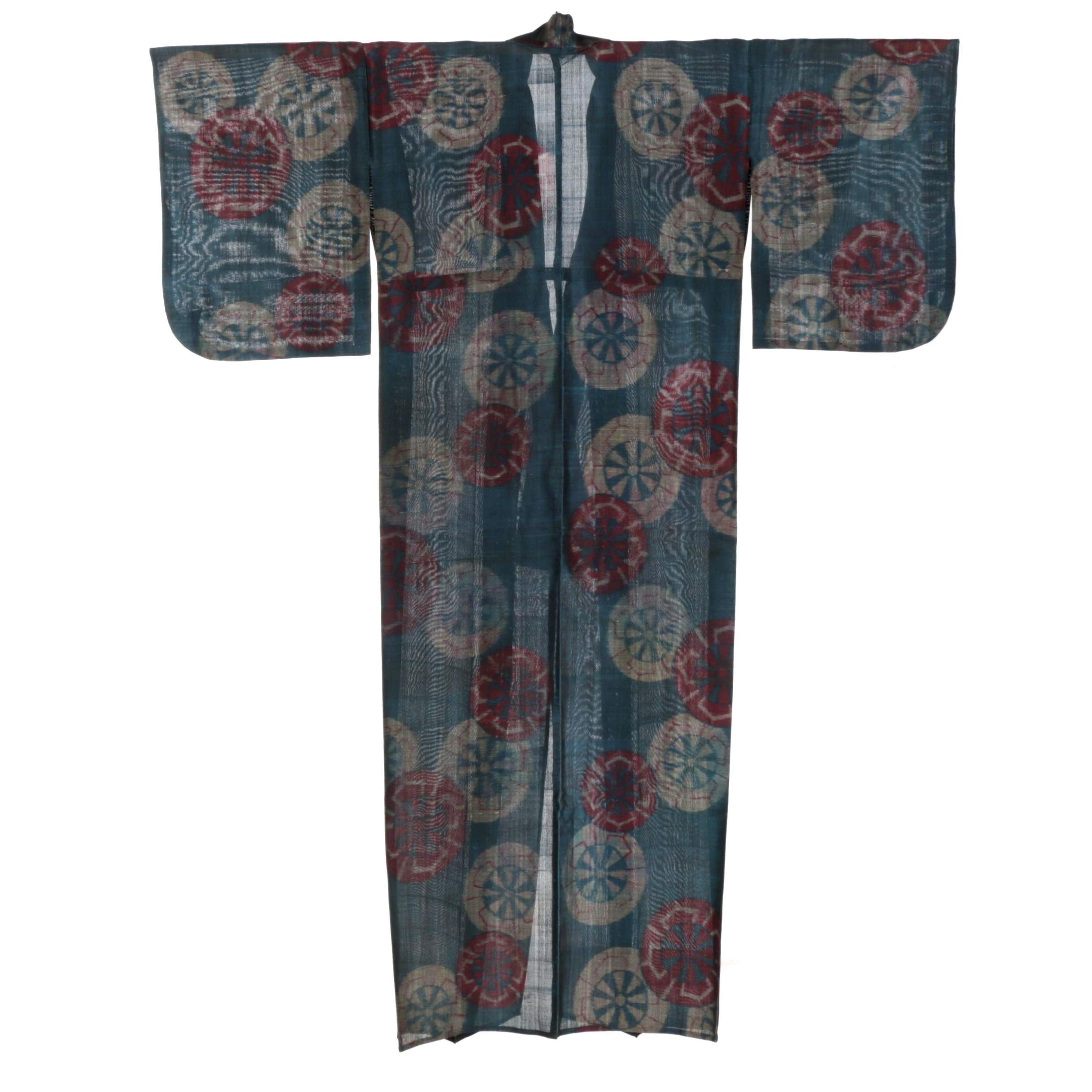 Circa 1920s Vintage Hand Sewn Silk Kimono