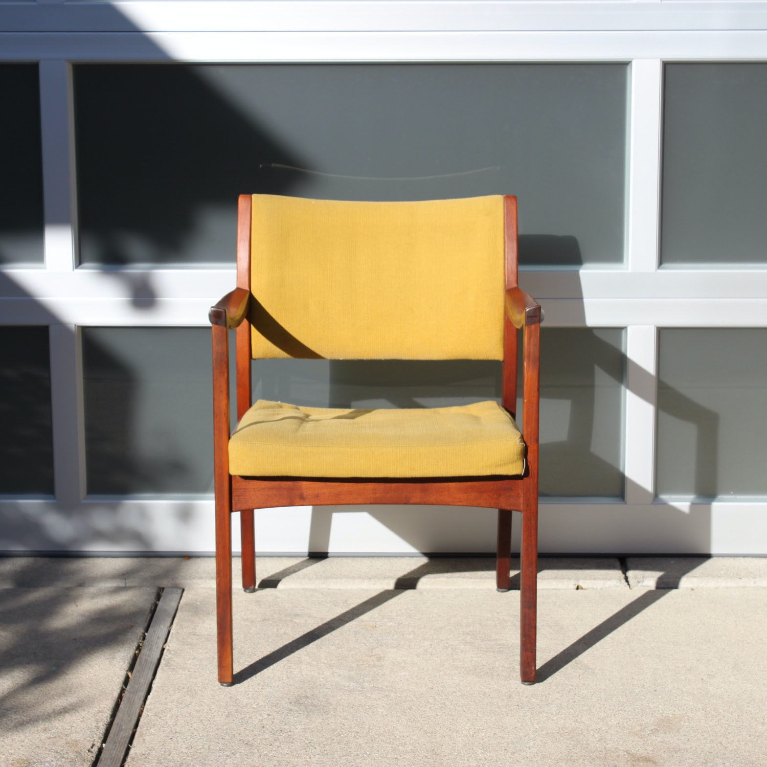 Mid Century Modern Walnut Arm Chair by Johnson Chair Company