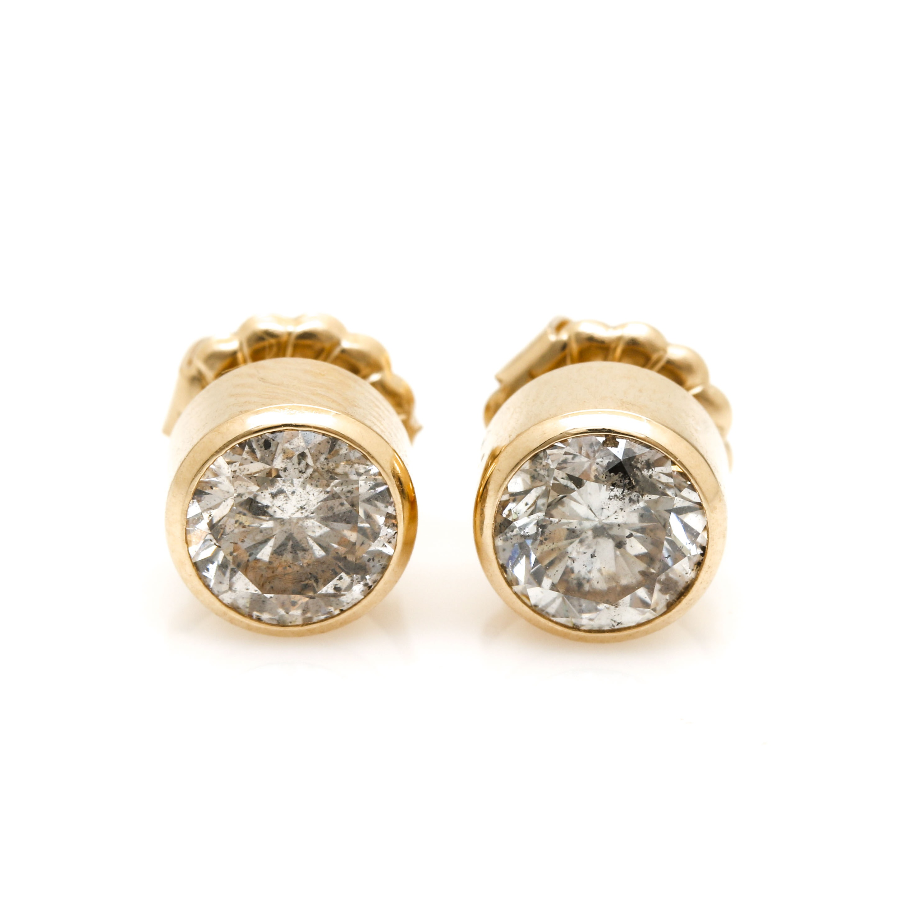 14K Yellow Gold 1.92 CTW Diamond Earrings