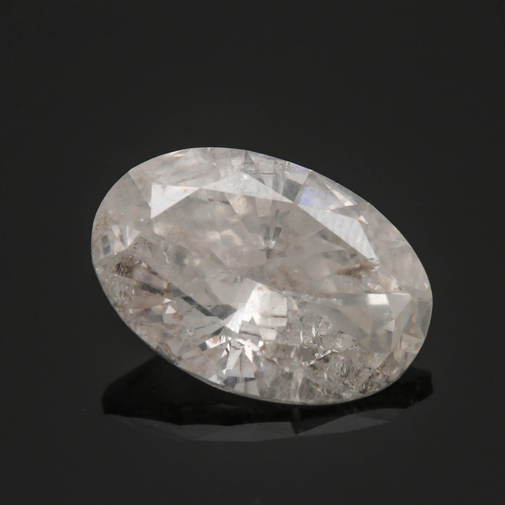 Loose Oval 4.50 CT Diamond