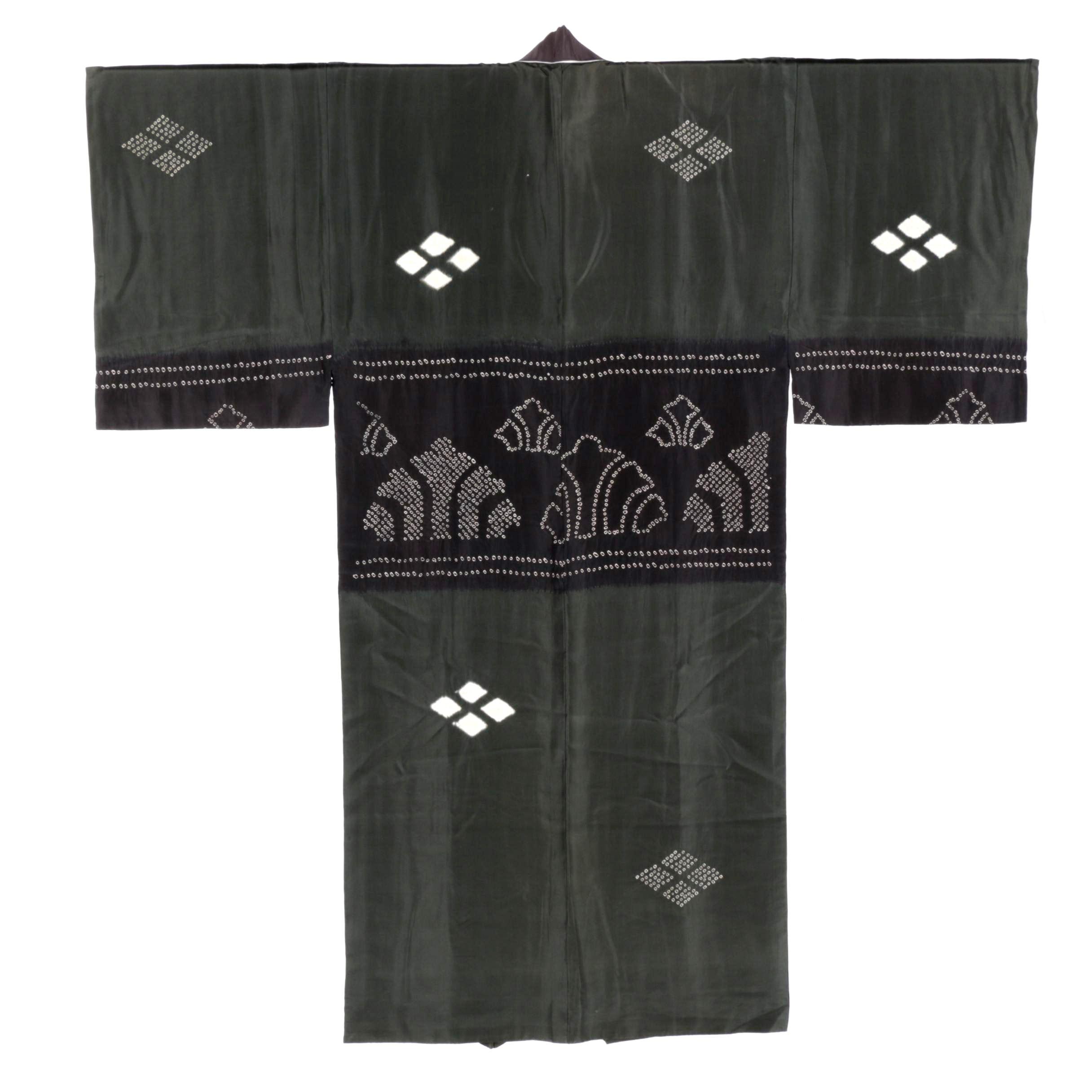 Men's Circa 1940s Vintage Hand Sewn Silk Kimono