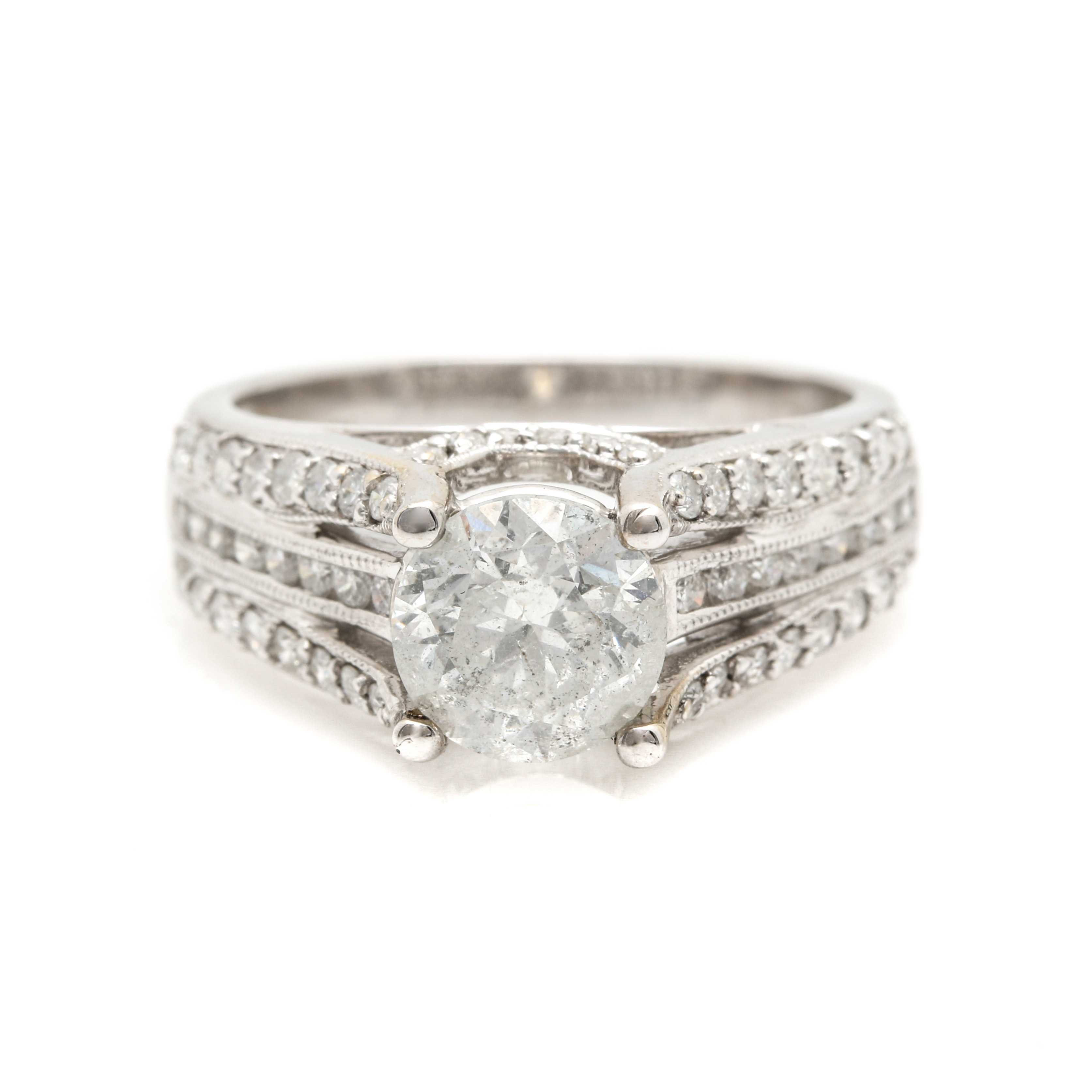 18K White Gold 2.39 CTW Diamond Ring
