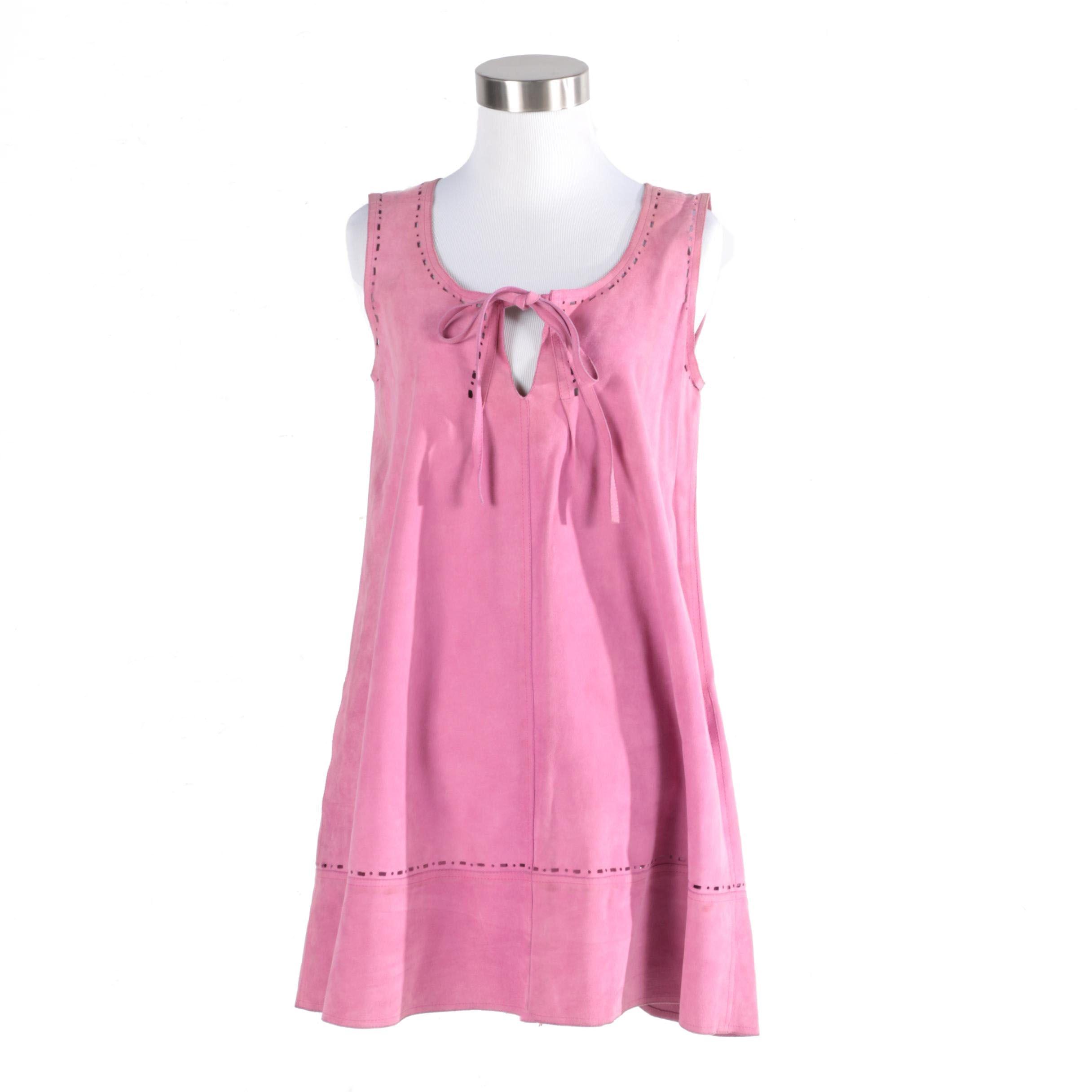 Vintage Jean Muir Suede Tunic Dress