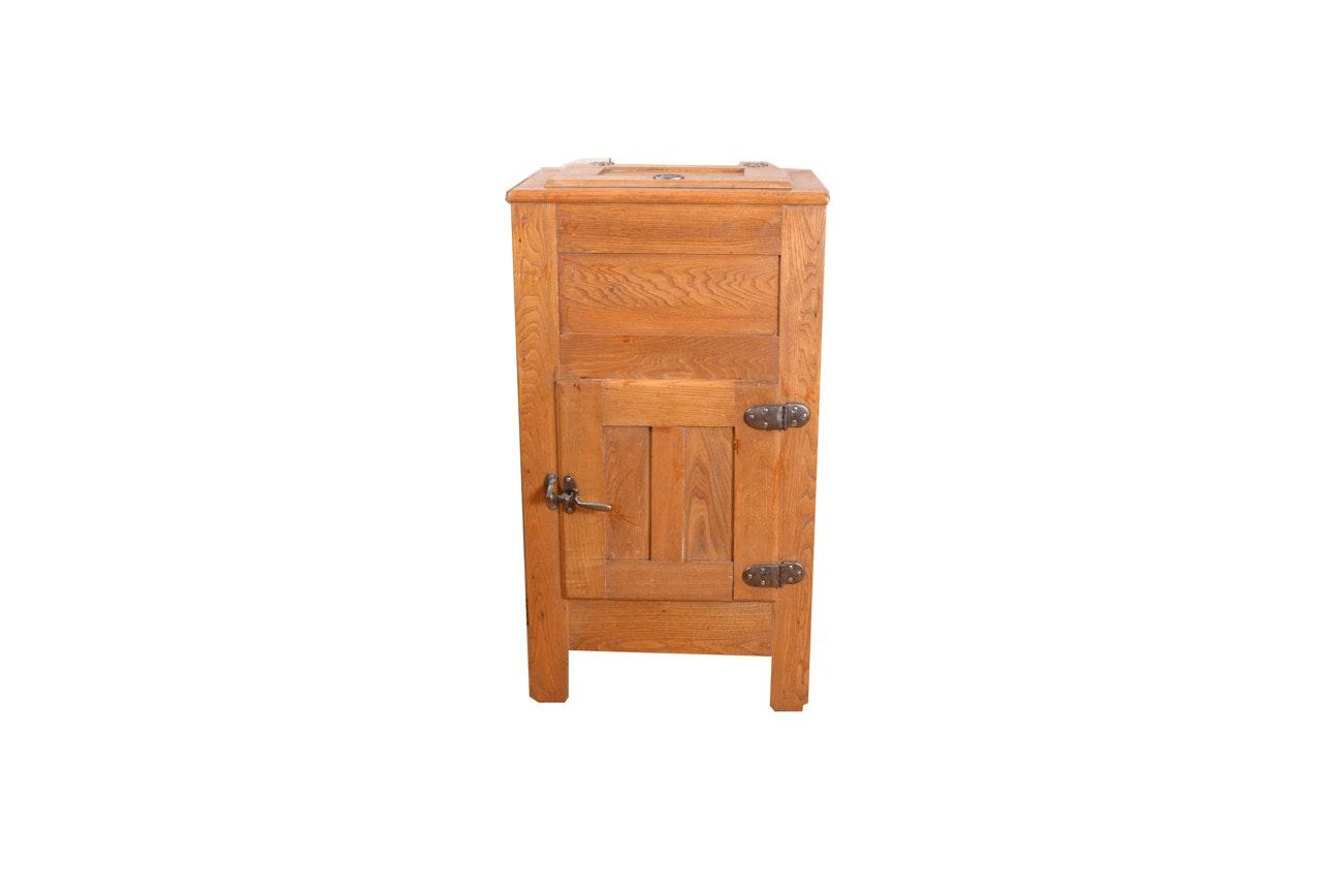 Vintage Oak Ice Box
