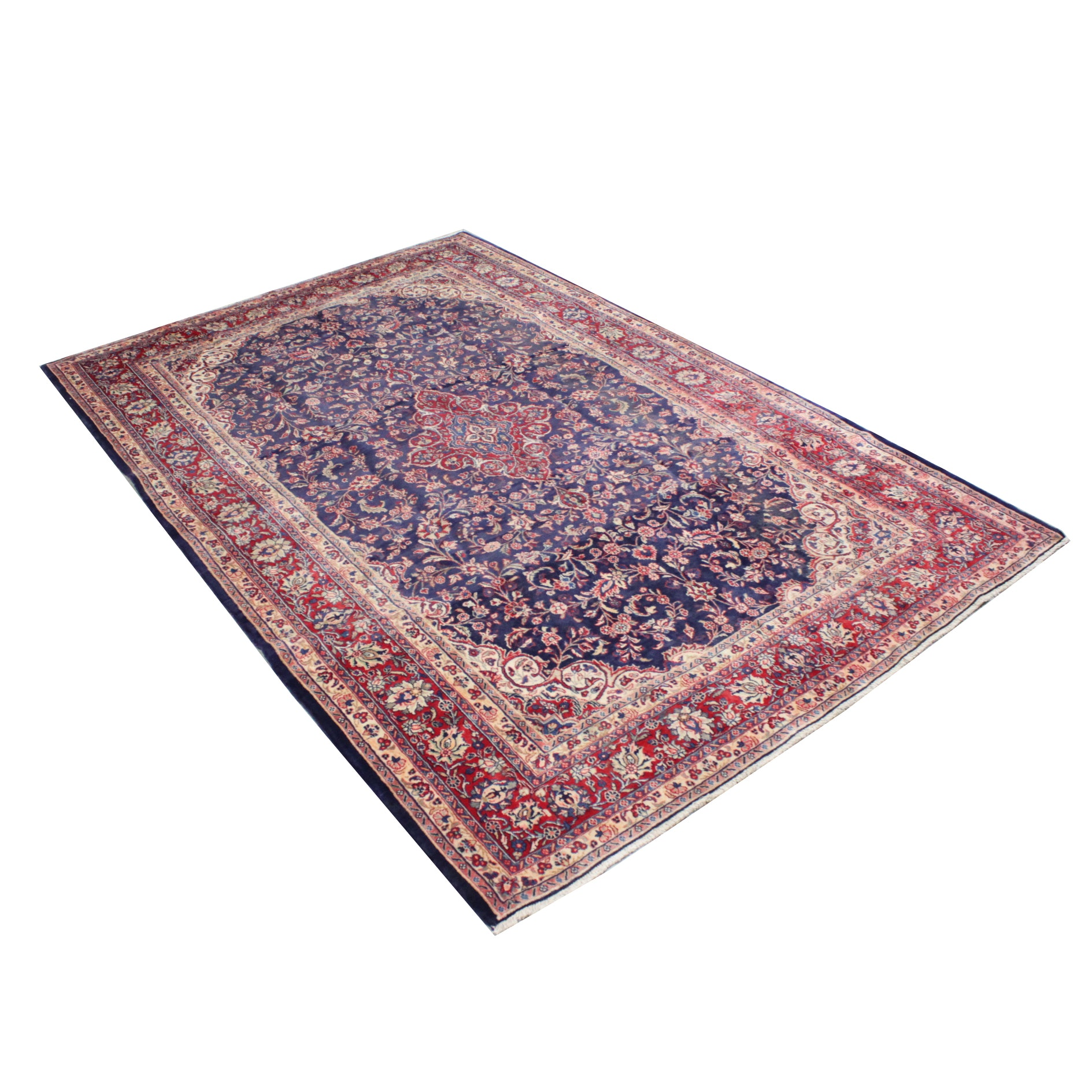 Finely Hand-Knotted Tabriz Wool Area Rug