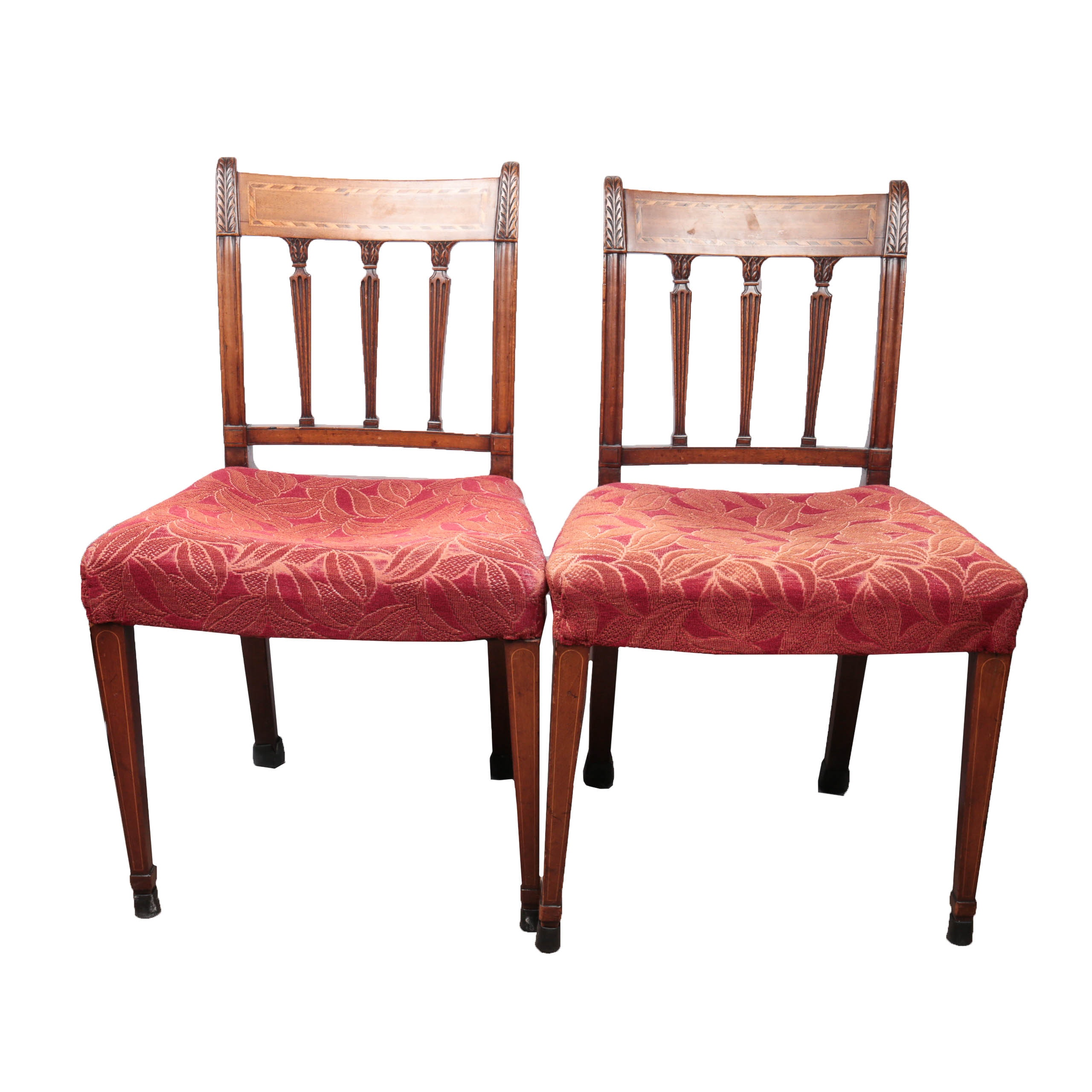 Matching Pair Of Antique Mahogany Neoclassical Chairs ...