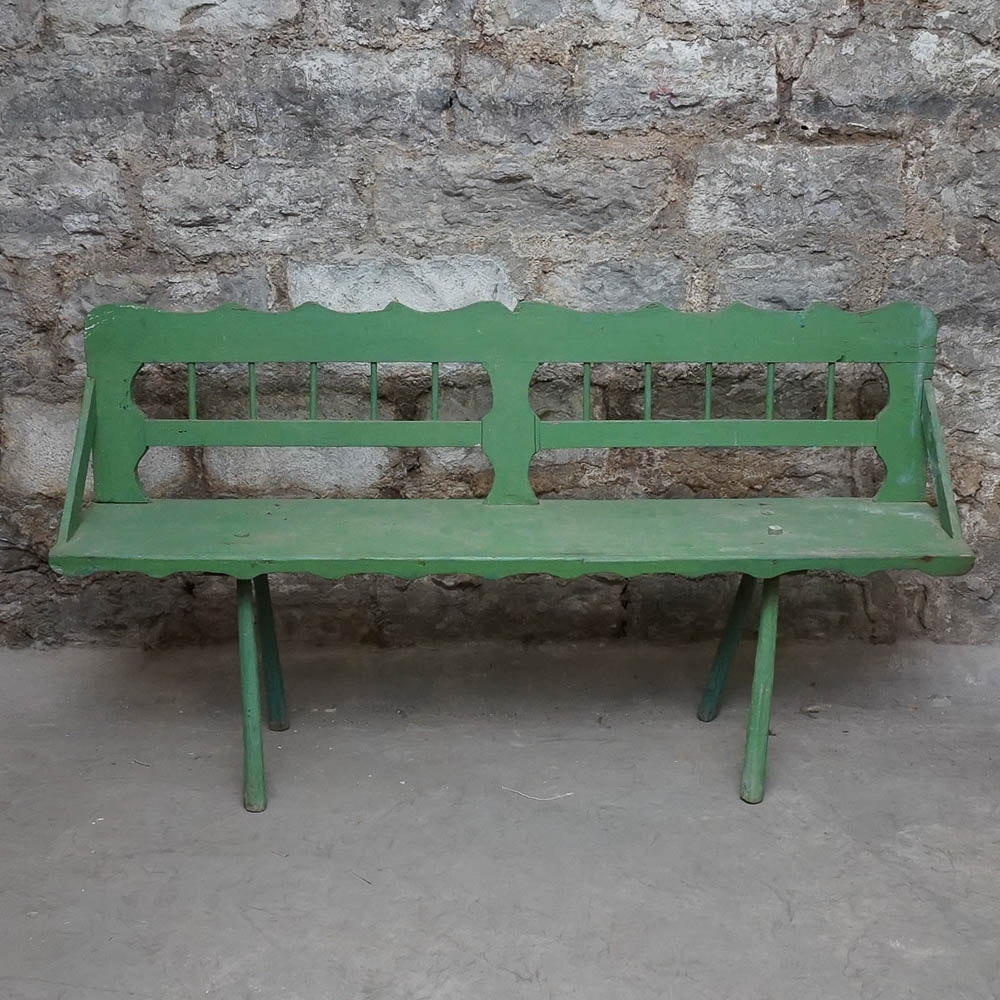 Vintage Painted Bench