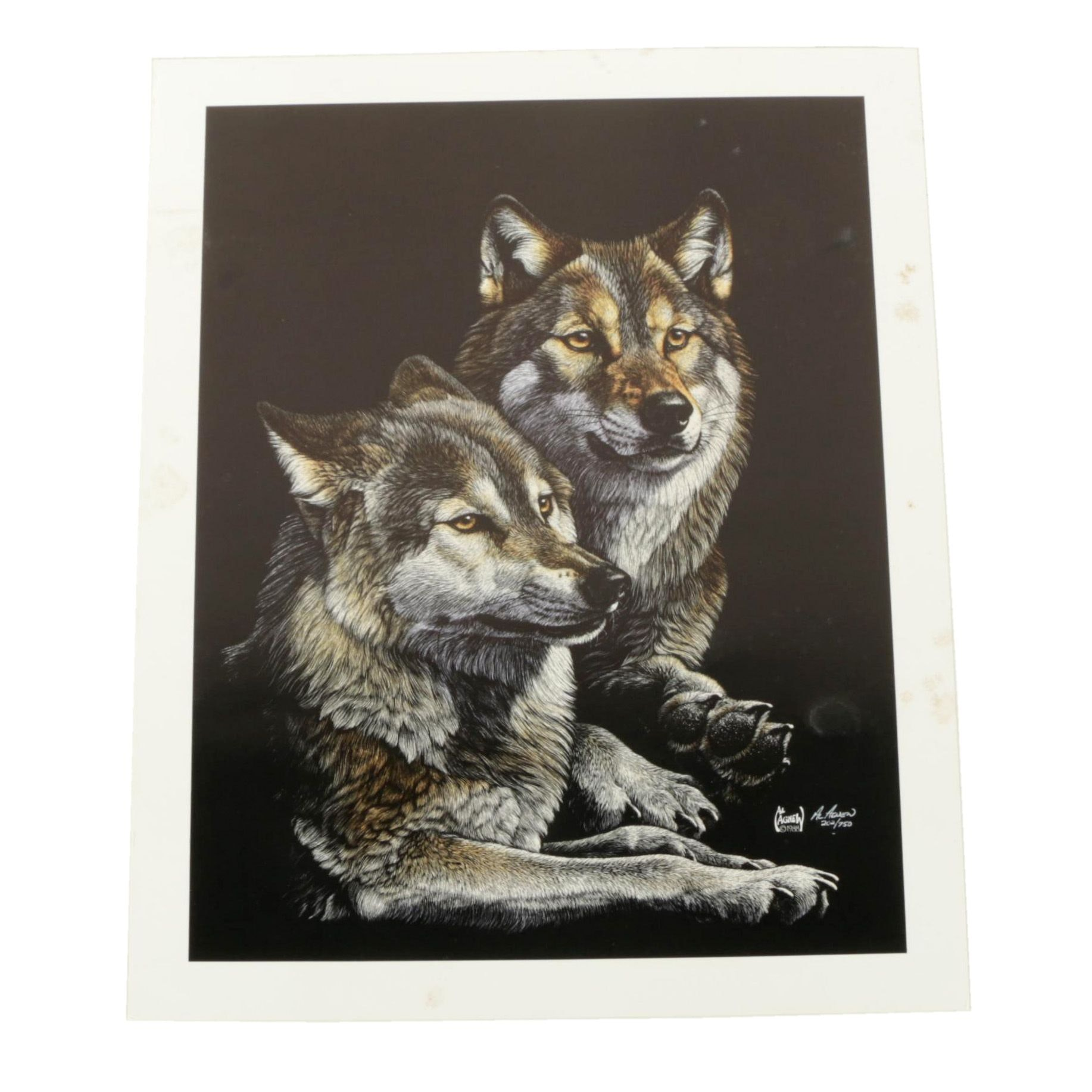 """Al Agnew 1988 Limited Edition Offset Lithograph on Paper """"Mates"""""""