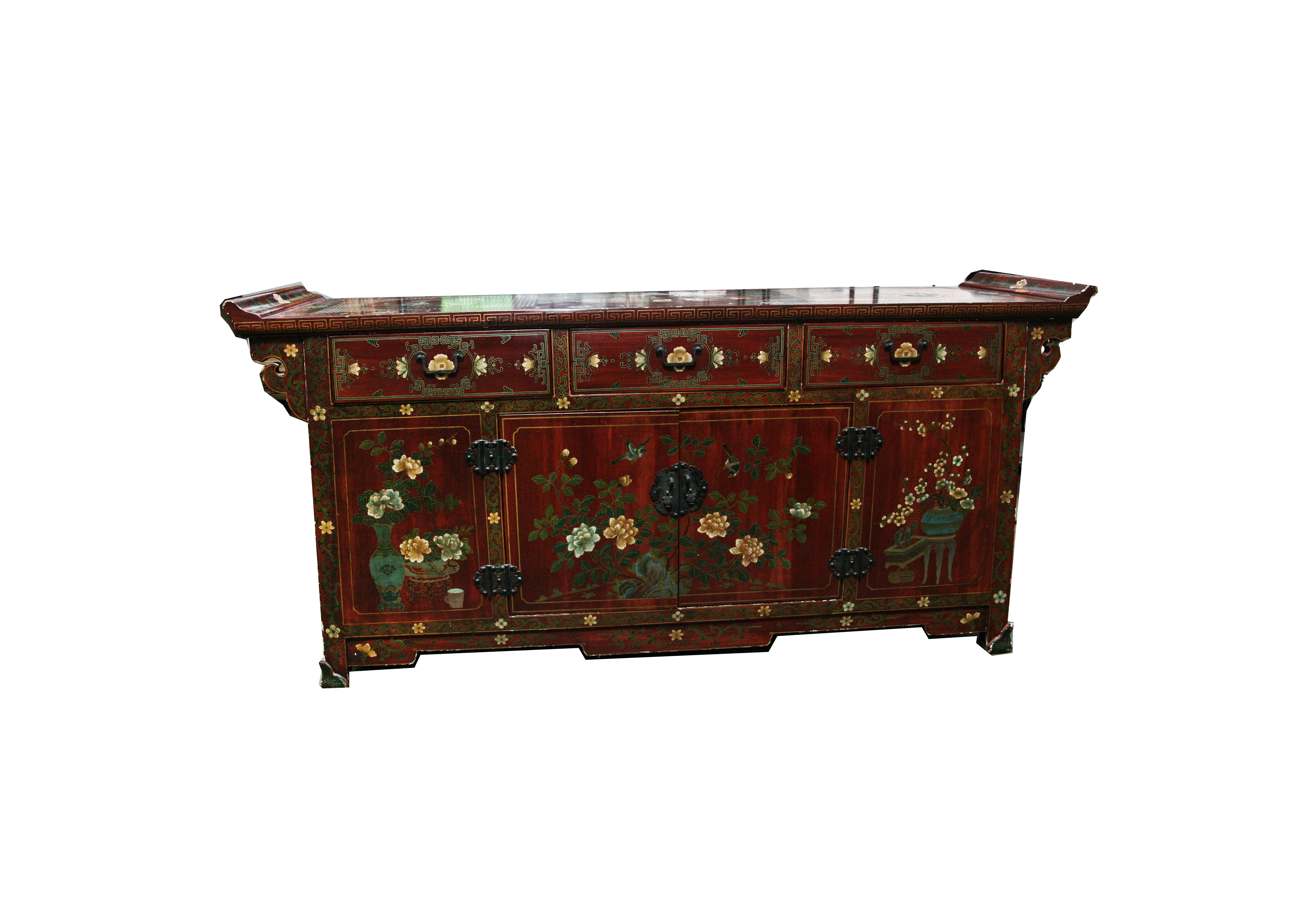 Chinoiserie Painted Sideboard