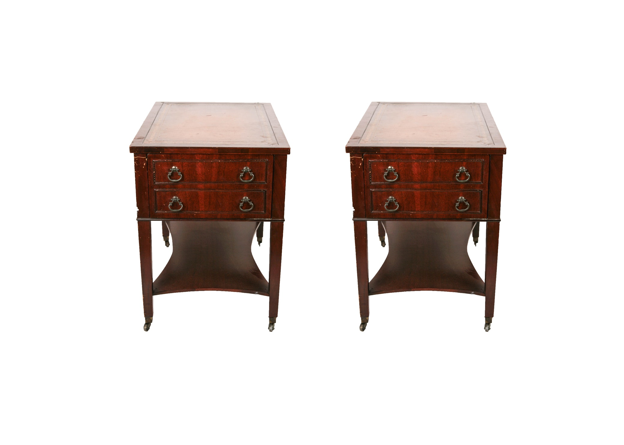 Exceptional Vintage Mahogany End Tables ...