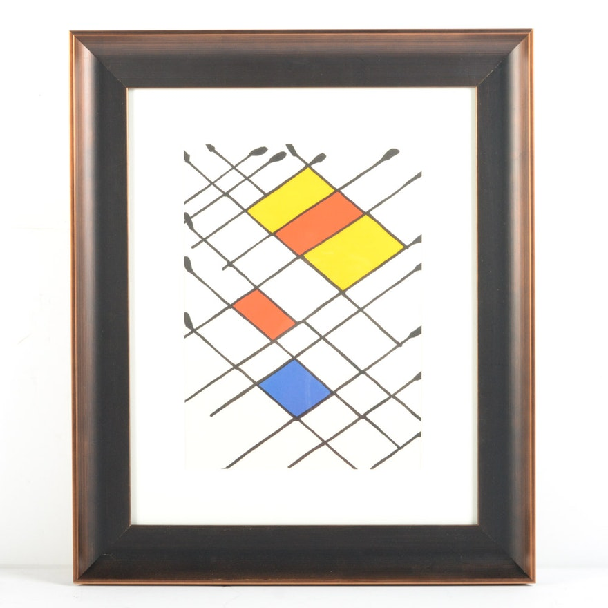 Alexander calder lithograph for derri re le miroir damier for Maeght derriere le miroir