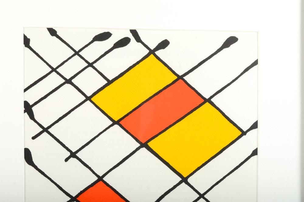 Alexander Calder Lithograph For Derri 232 Re Le Miroir Quot Damier