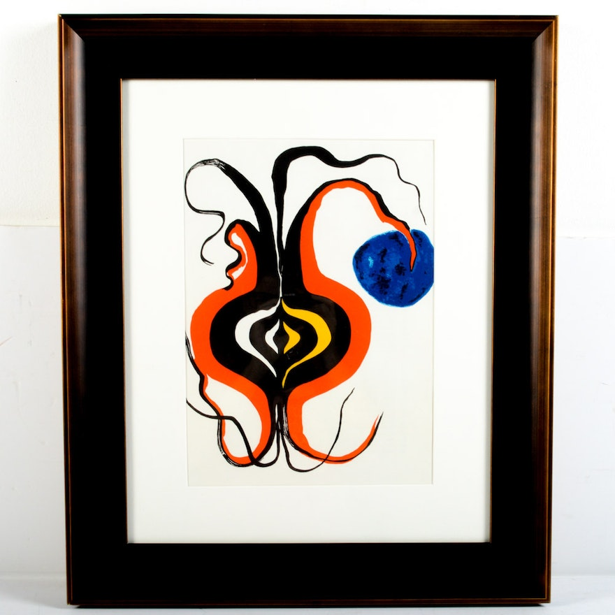 Alexander calder lithograph for derri re le miroir the for Alexander calder derriere le miroir