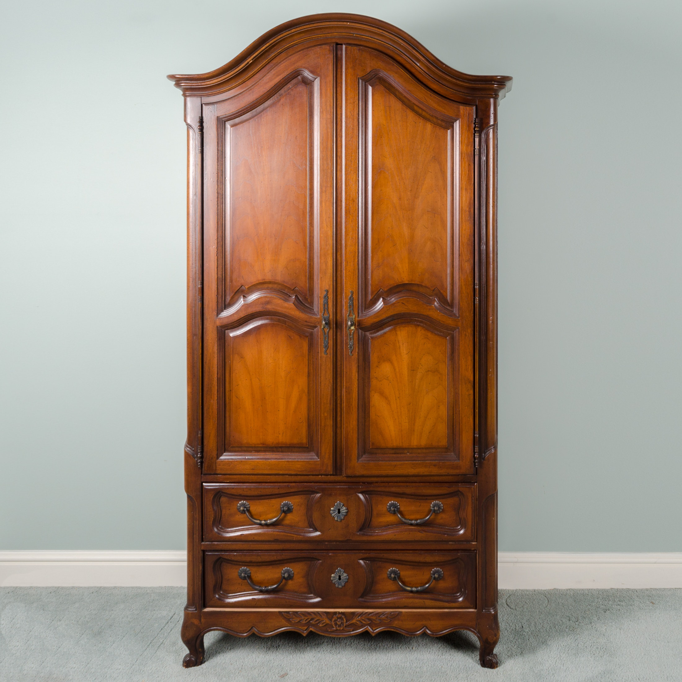 French Provincial Style Wooden Armoire by Drexel