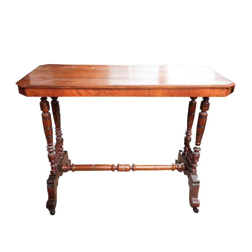 Antique victorian sofa table for Sofa table victorian