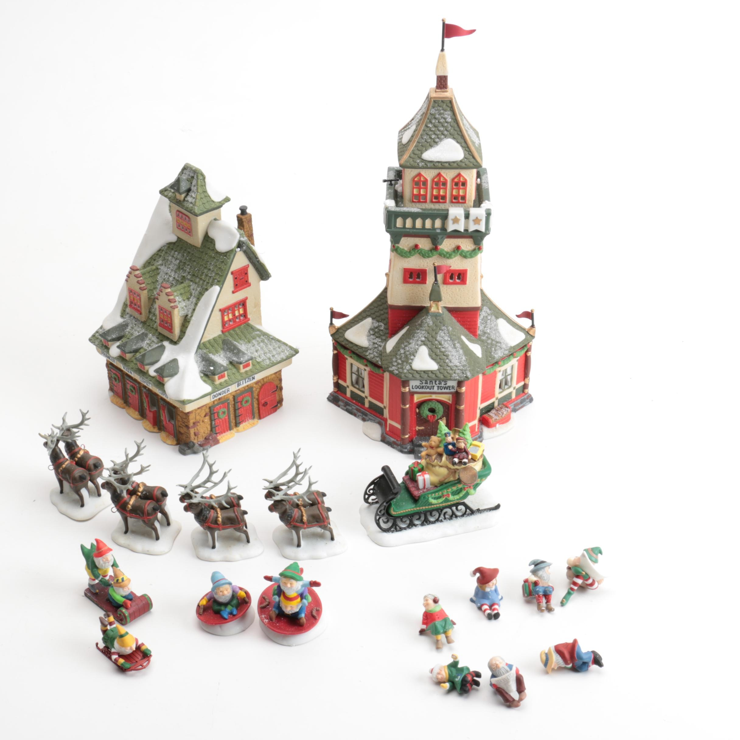 """Department 56 """"Heritage Village"""" and """"North Pole"""" Figurines"""