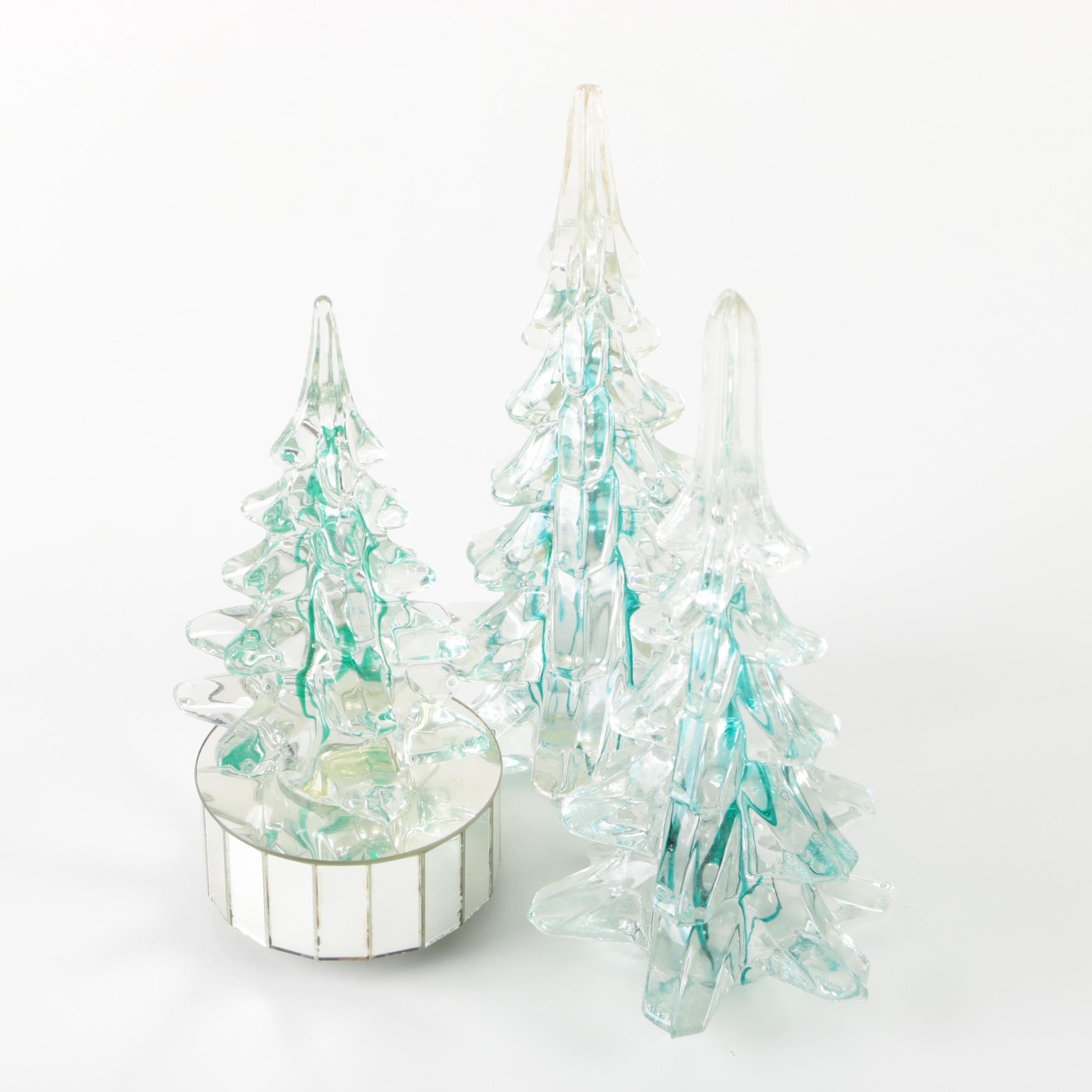 "Enesco ""White Christmas"" Music Box and Figurine Set"
