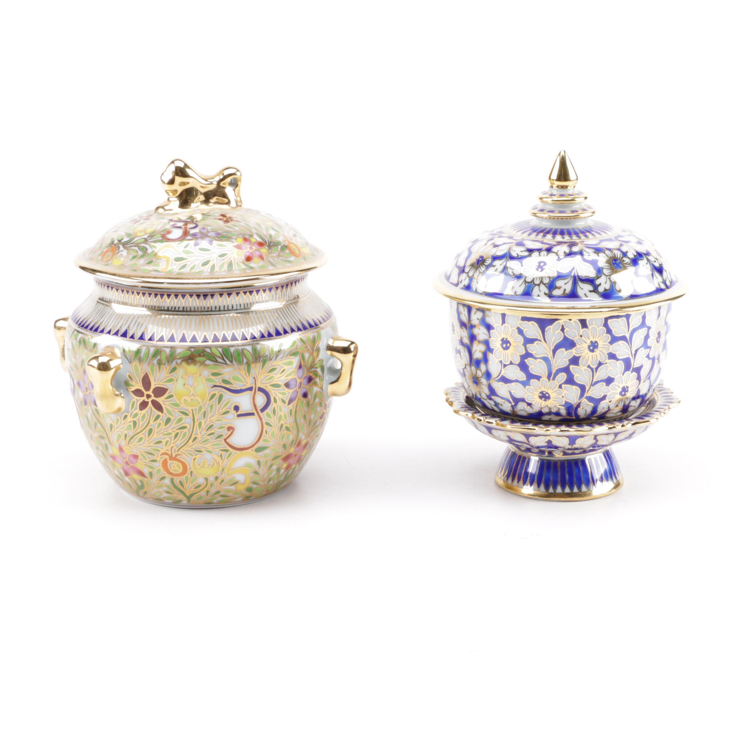Hand-Painted Jars