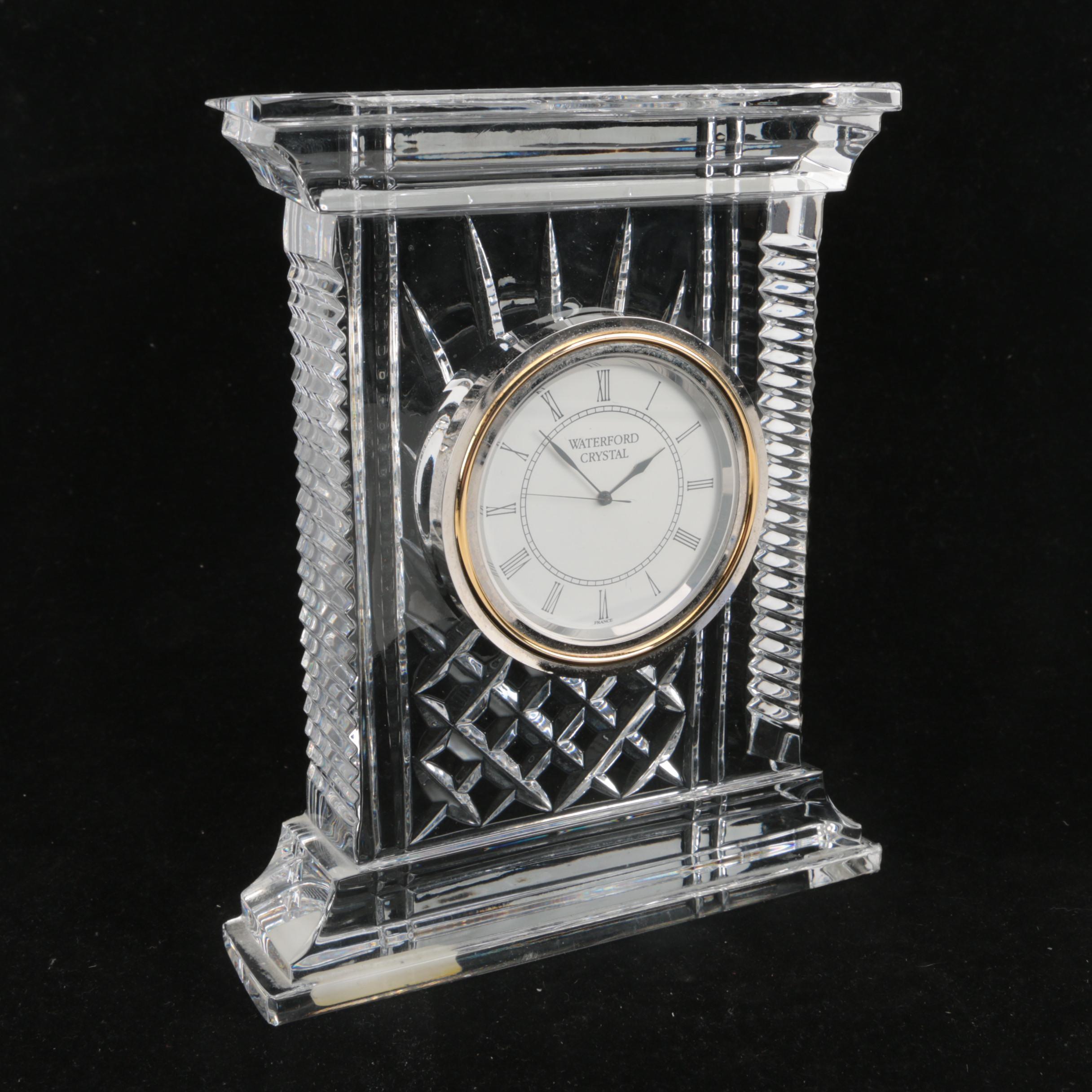 "Waterford Crystal ""Atrium"" Clock"