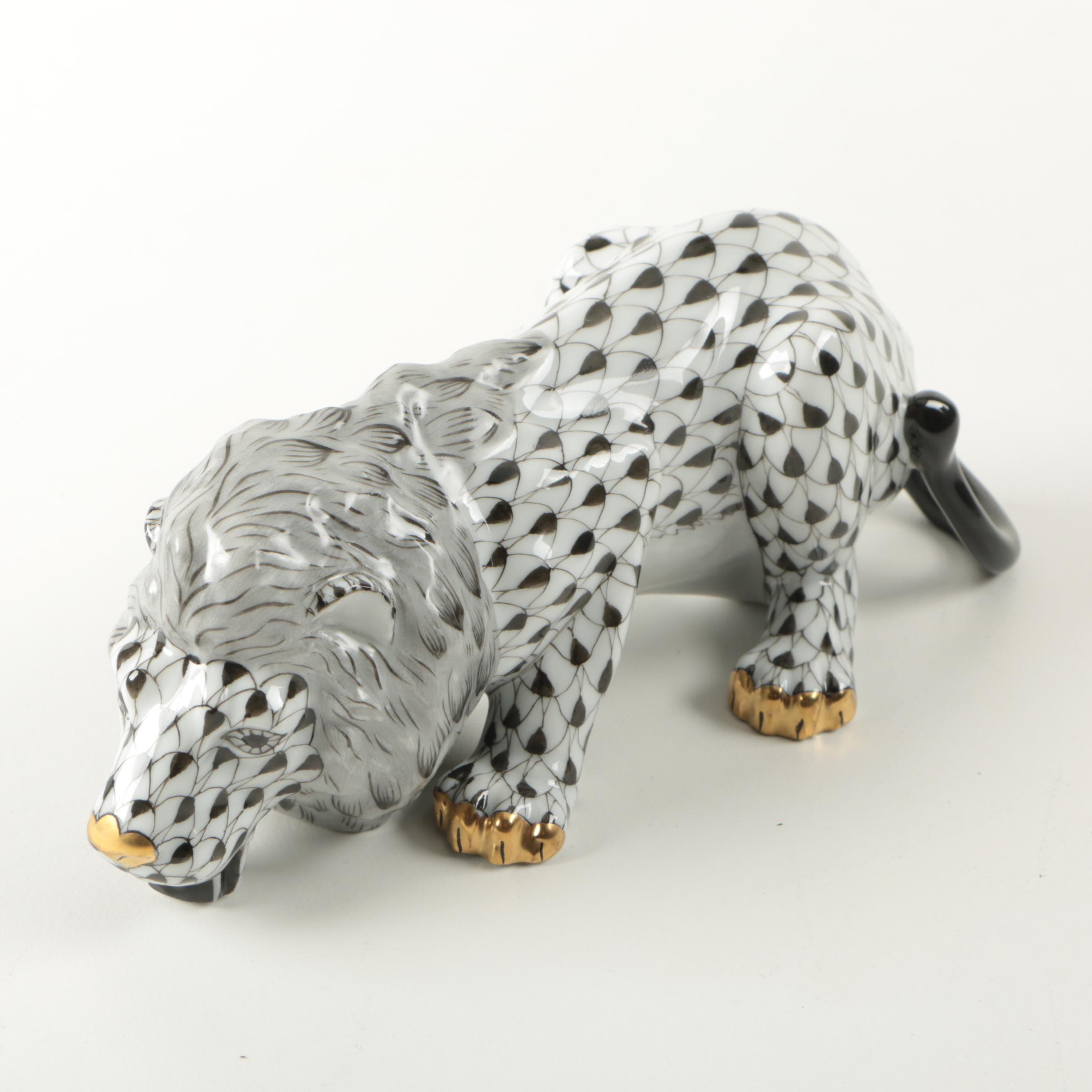 Herend Hungary Lion Figurine