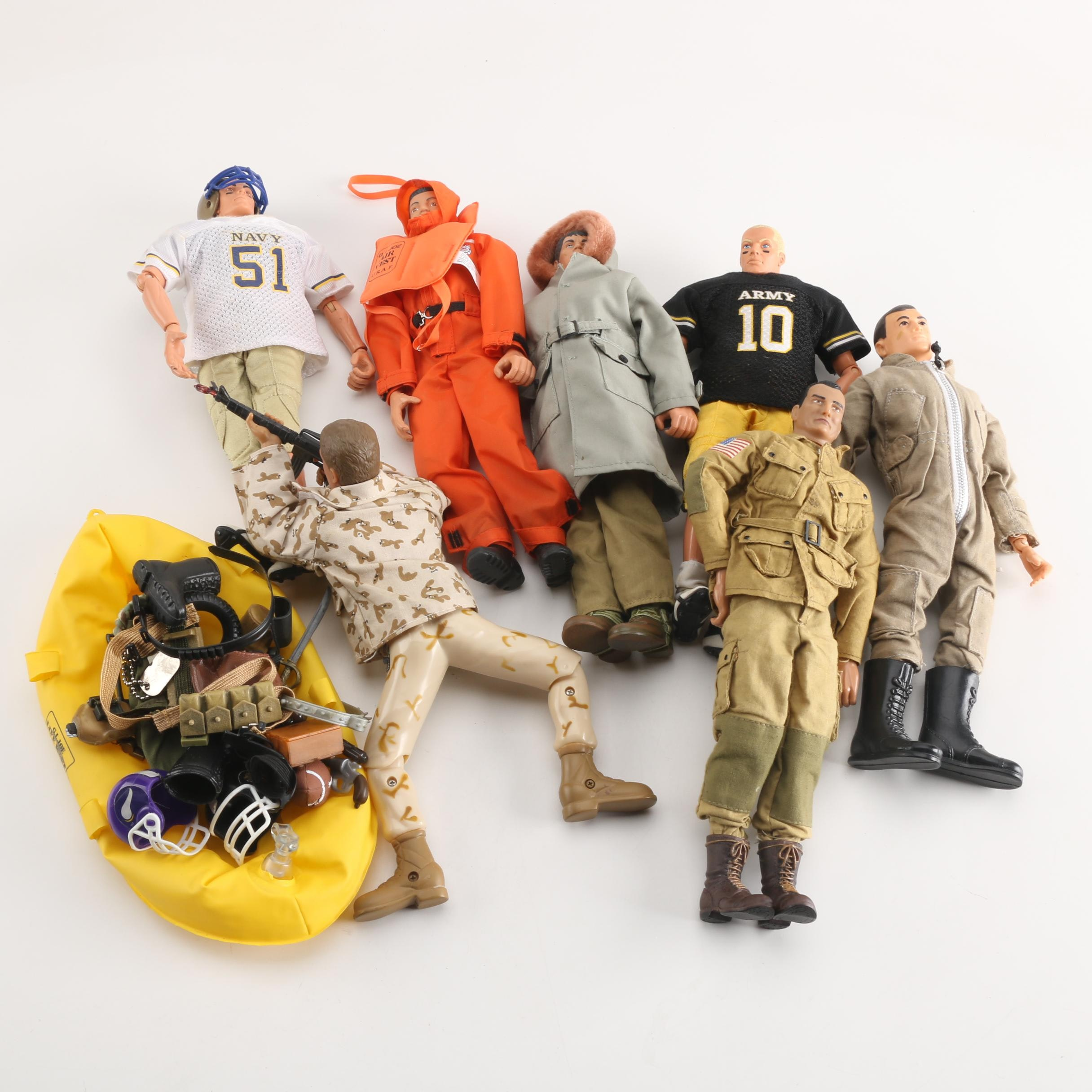 Assorted G.I. Joe Action Figures with Accessories