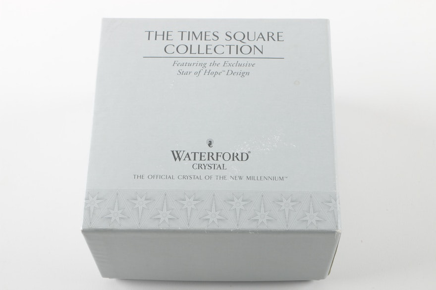 2000 times square waterford crystal christmas ornament - Waterford crystal swimming pool times ...