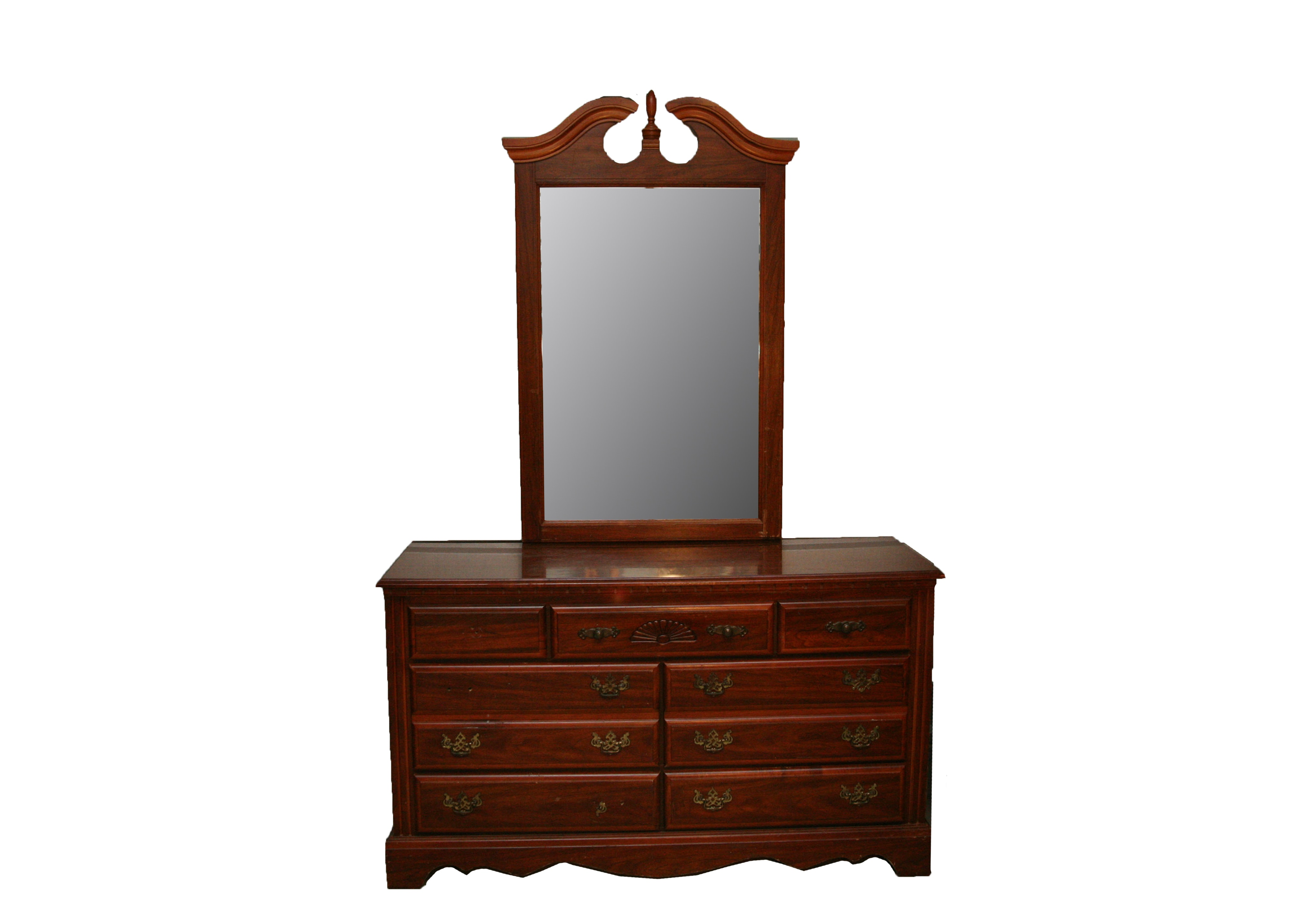 Federal Style Chest of Drawers with Mirror by Broyhill