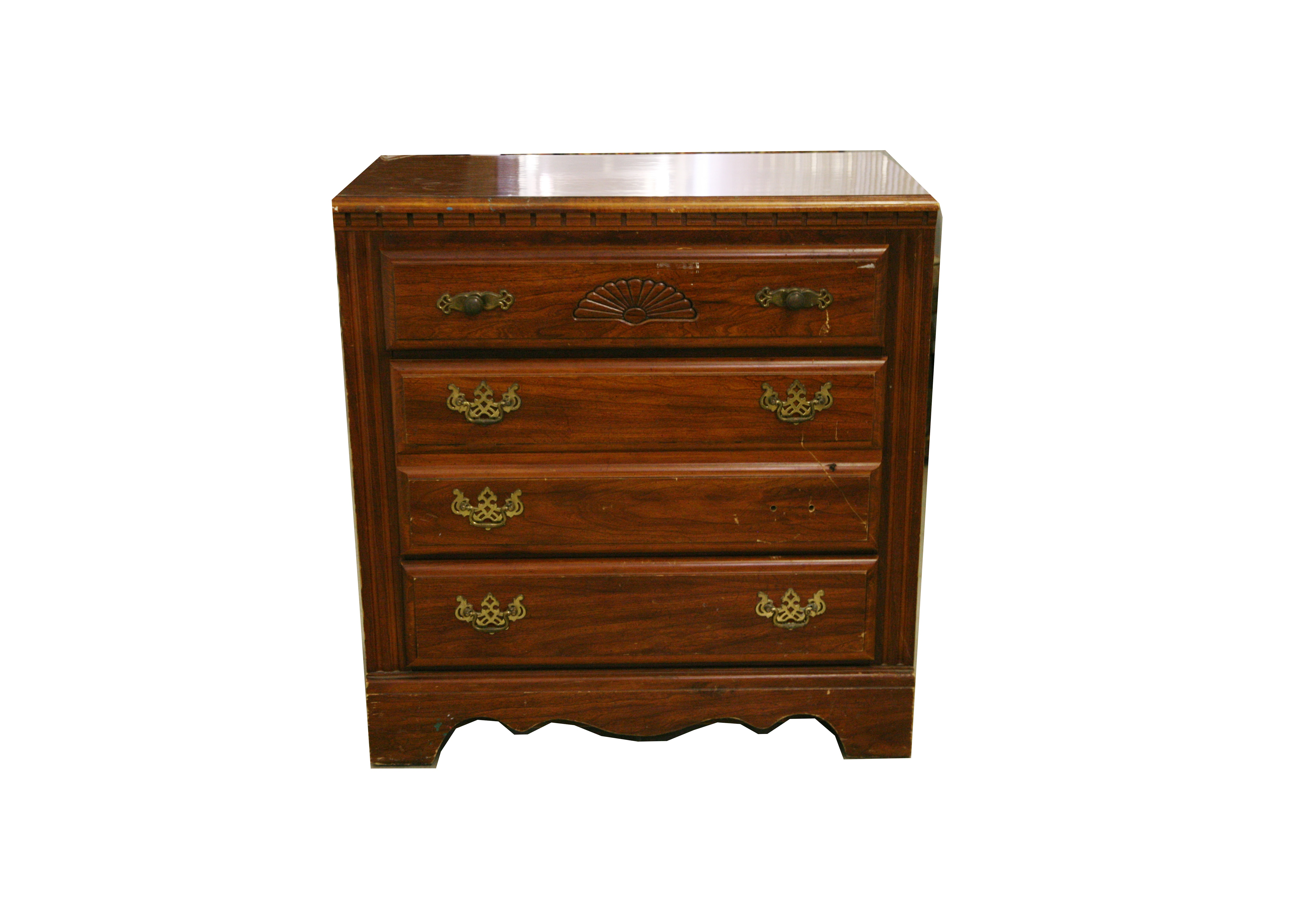 Chippendale Style Chest Of Drawers By Broyhill Ebth