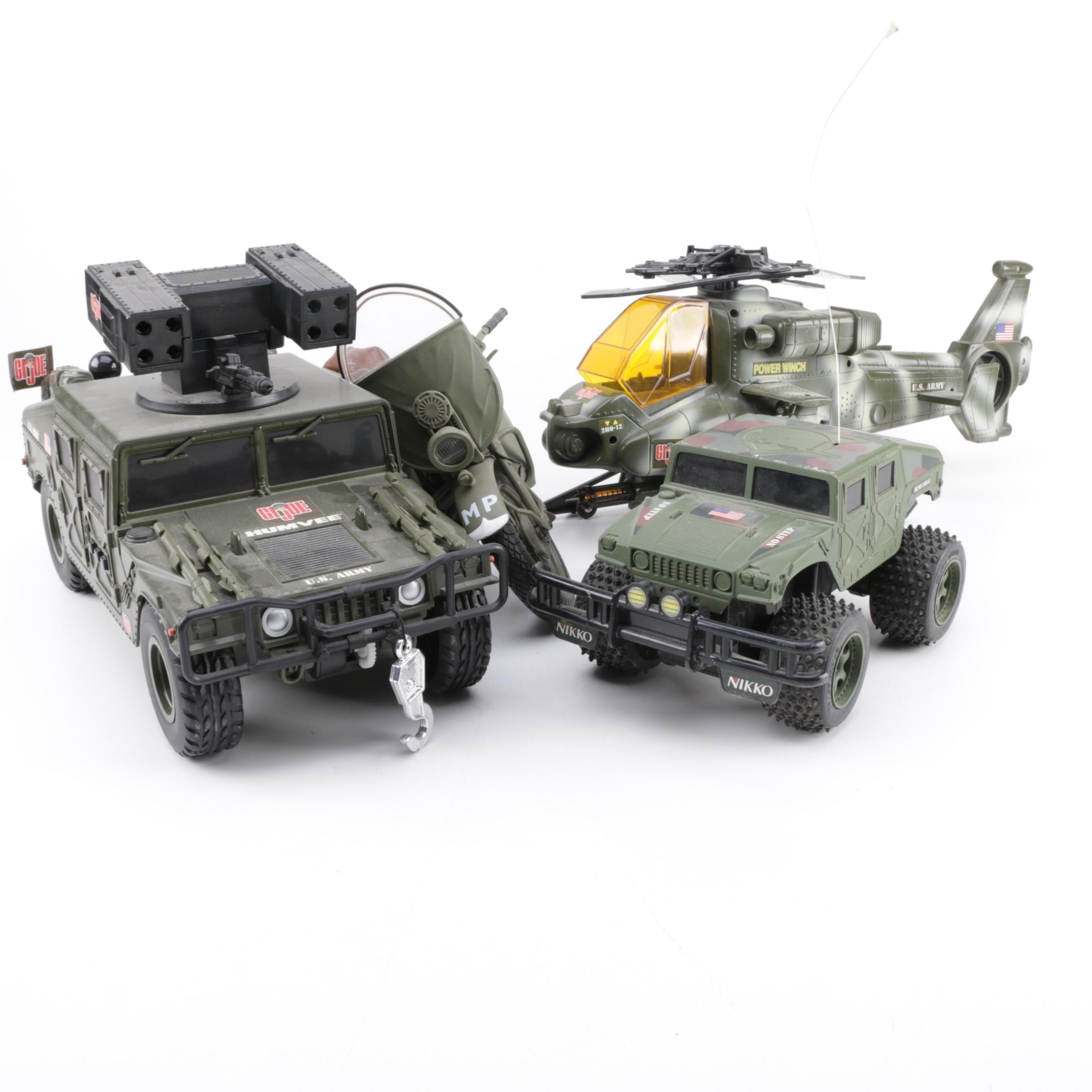 G.I. Joe Vehicles and Nikko Humvee