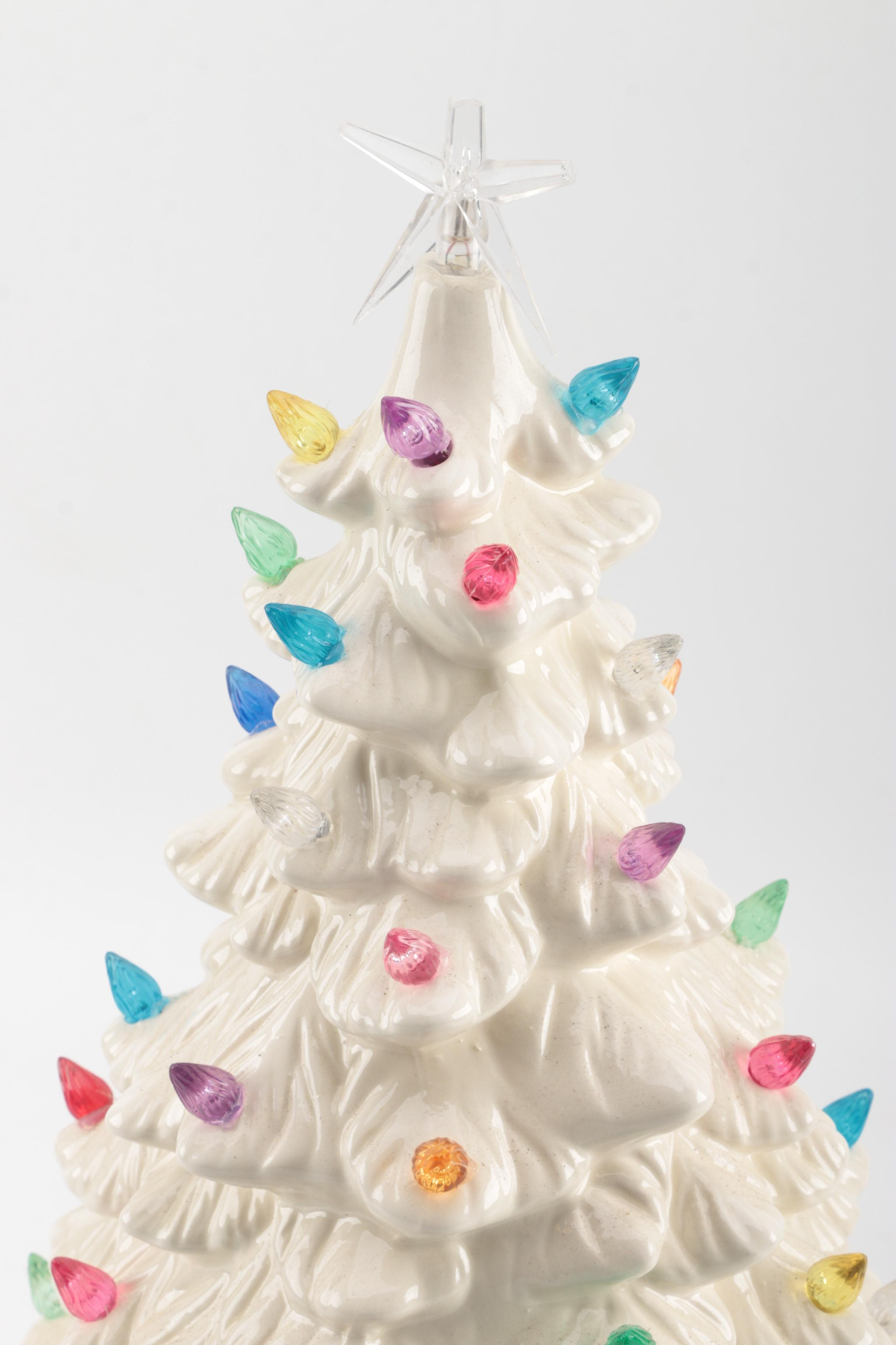 Ceramic Christmas Tree Base With Light
