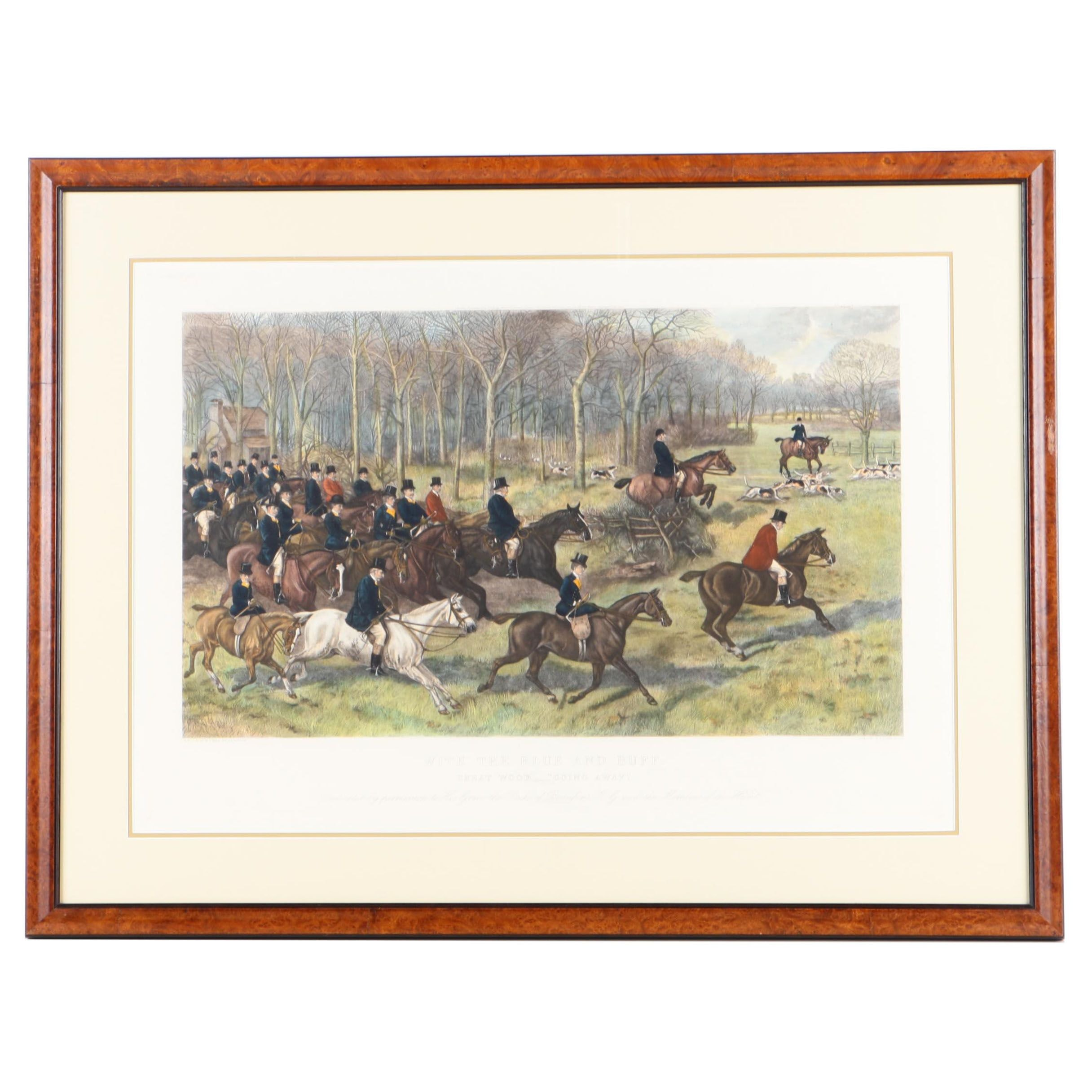 "Richard Josey Hand Painted Engraving ""With the Blue and Buff"""