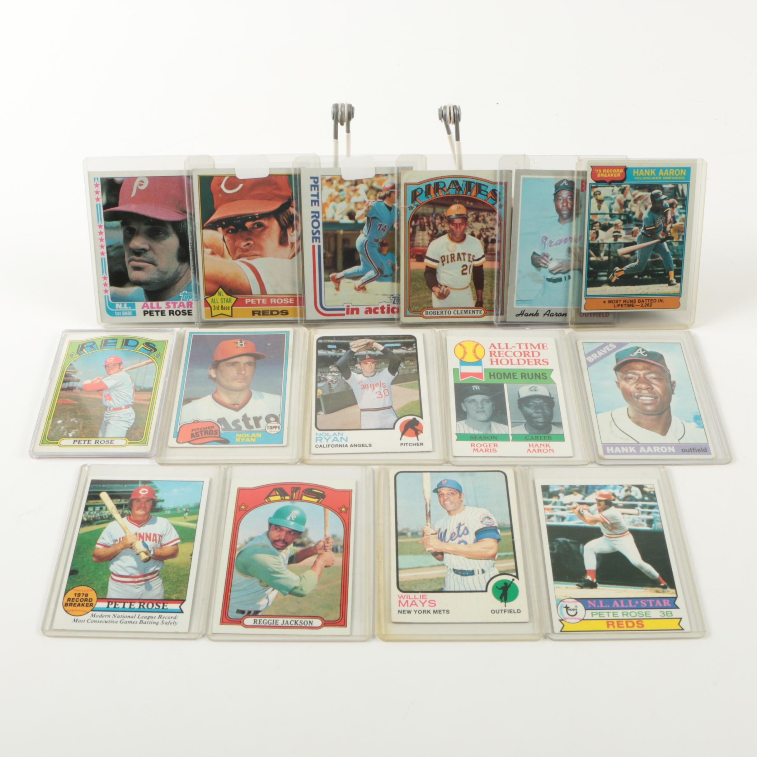 Baseball Card Collection Including Pete Rose