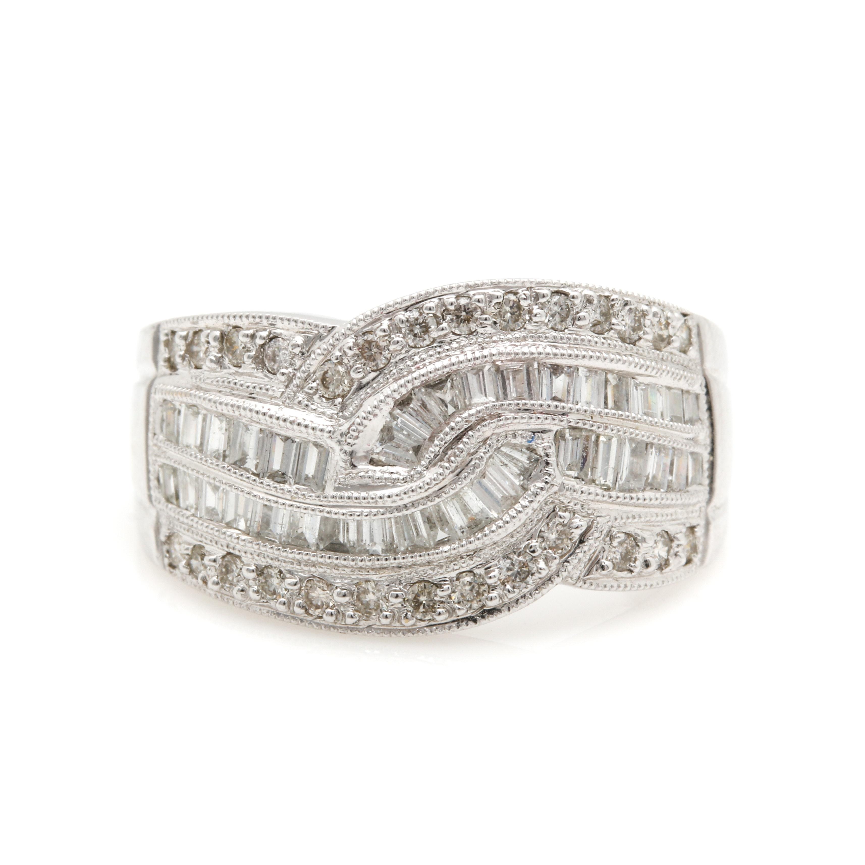 18K White Gold 0.99 CTW Diamond Ring
