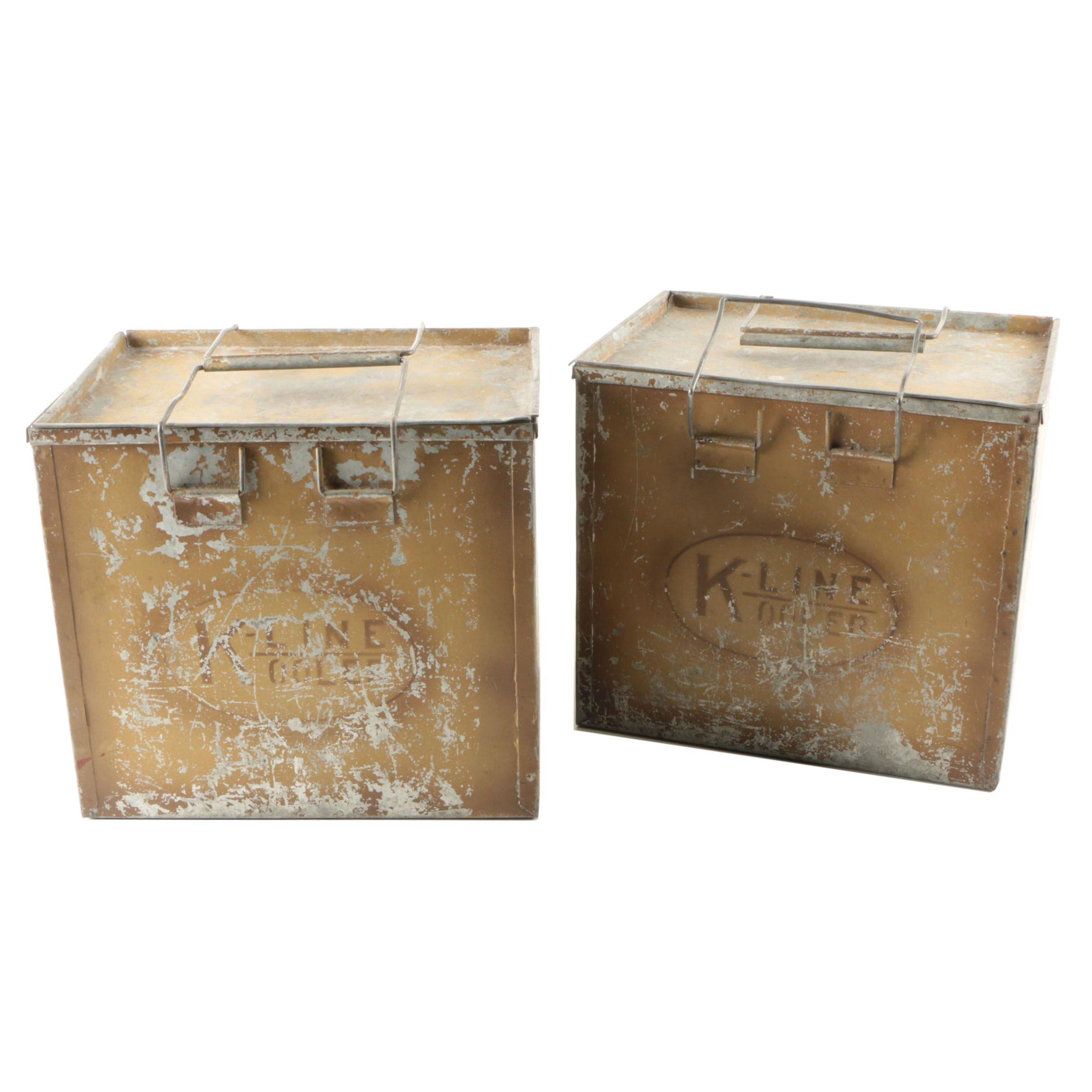 Vintage K-Line Milk Coolers