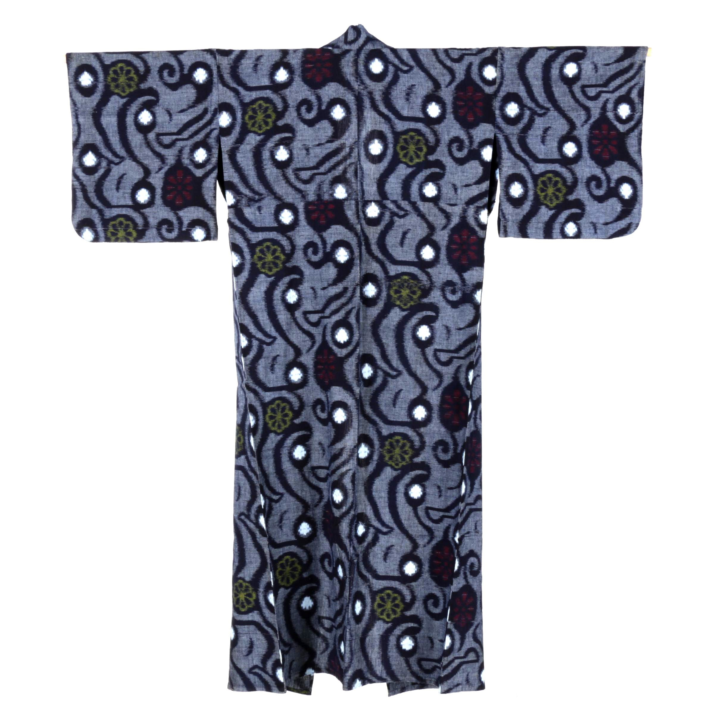 Circa 1930s Vintage Hand Sewn Cotton Yukata Kimono