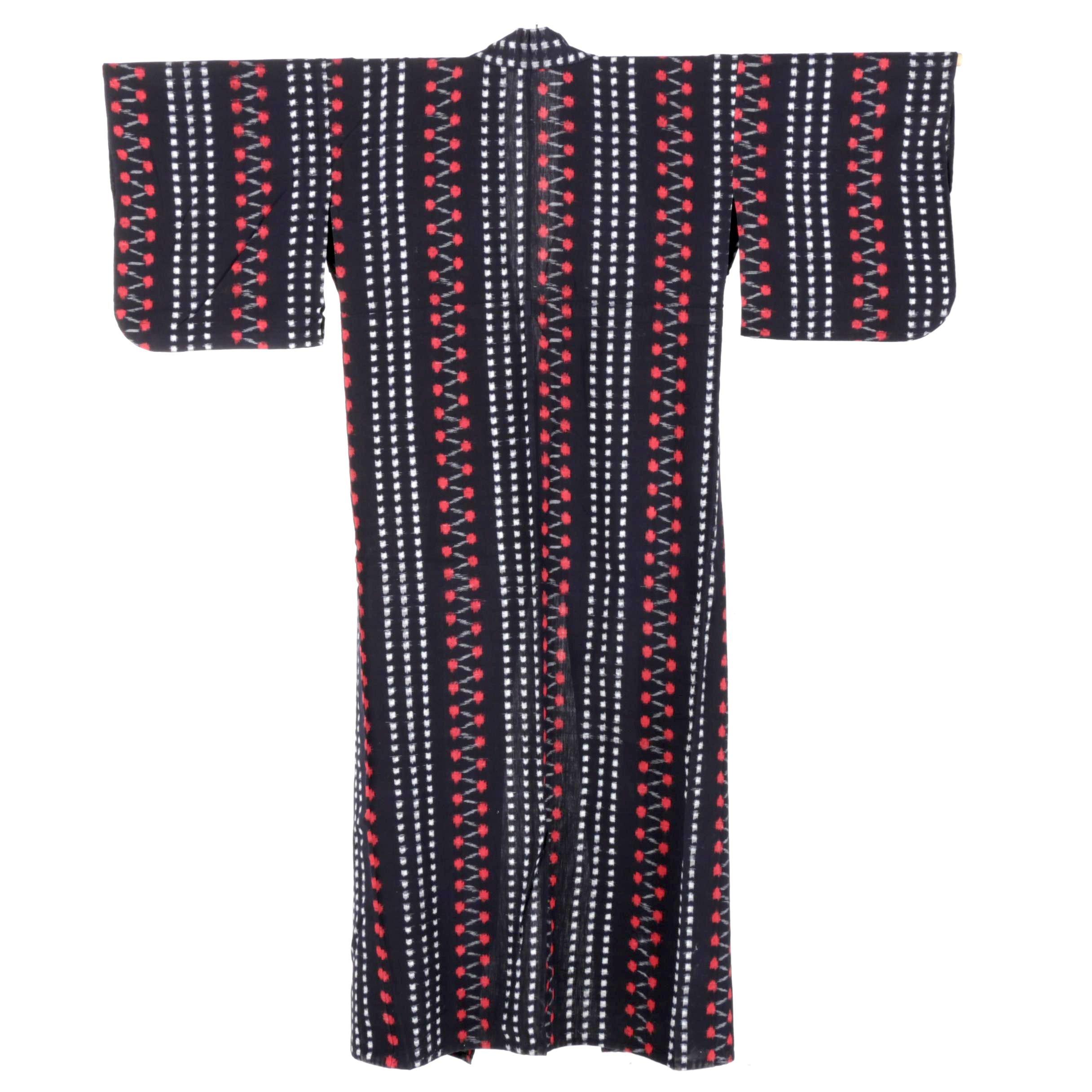 Circa 1950s Vintage Cotton Kimono