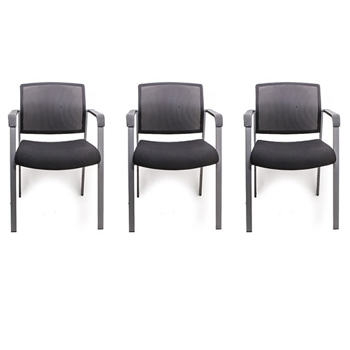 Collection of Three Contemporary Stacking Armchairs
