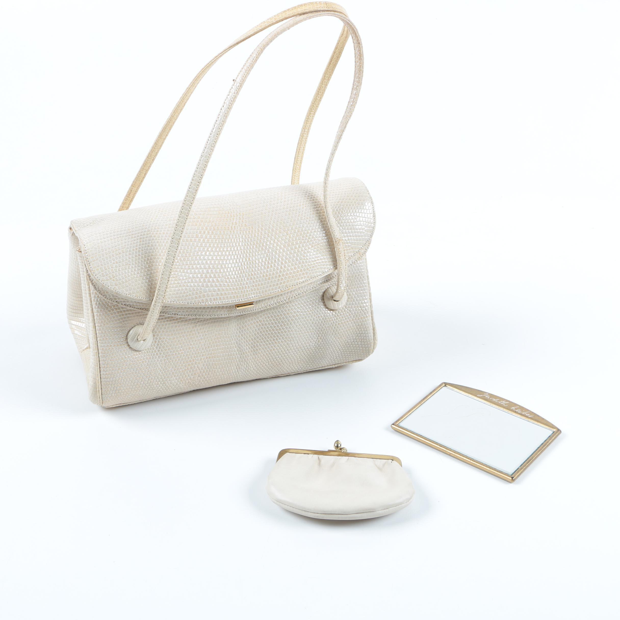 Judith Leiber Embossed Leather Handbag