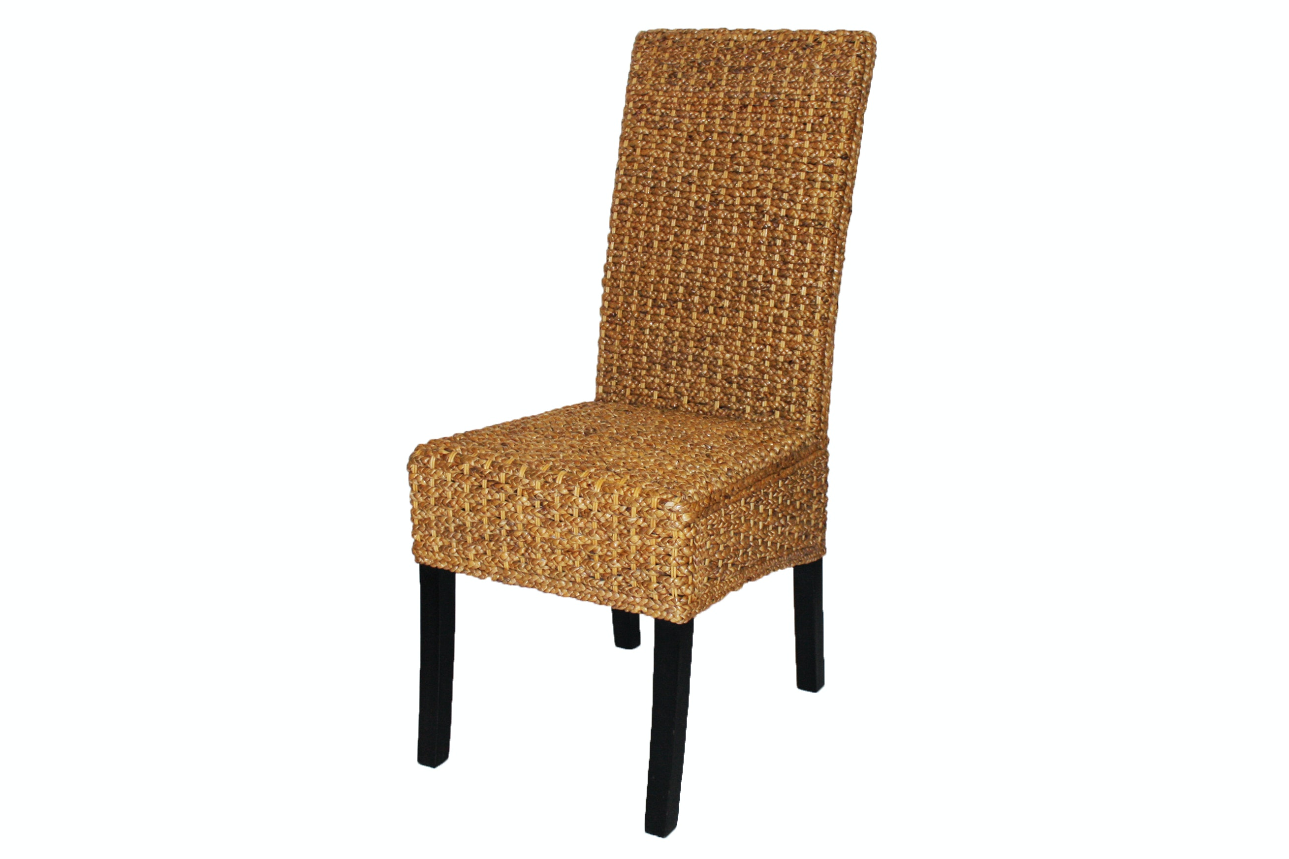 Braided Wicker Side Chair