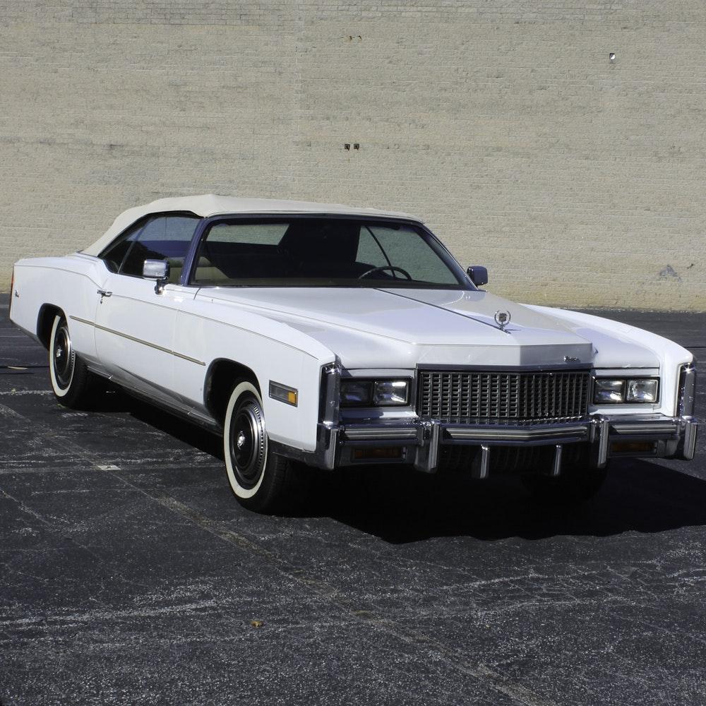 White Cadillac El Dorado Convertible