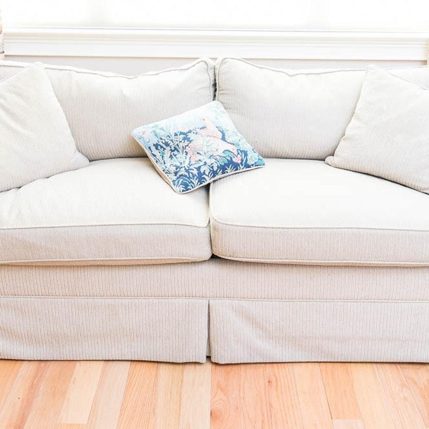 Carlyle Beige Upholstered Sleeper Sofa