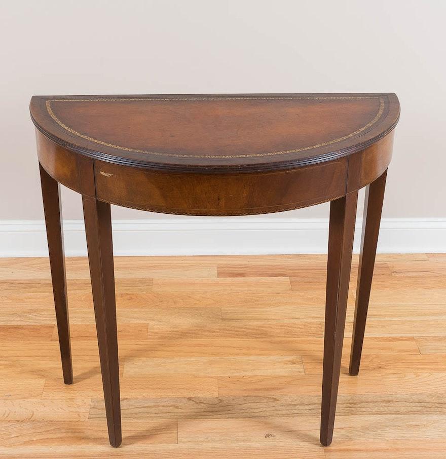 Fine arts furniture co half round console table ebth fine arts furniture co half round console table geotapseo Gallery