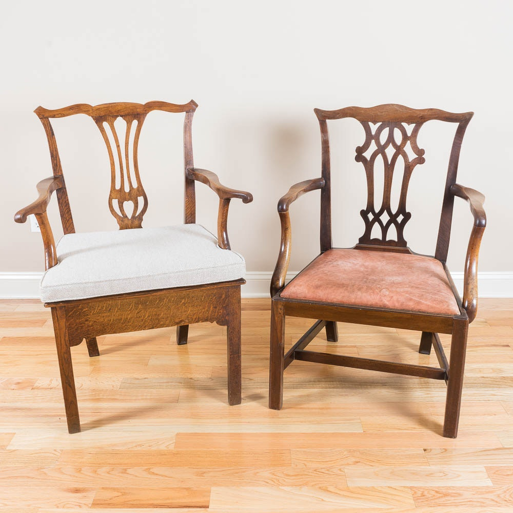 Pair of Antique George III  Armchairs