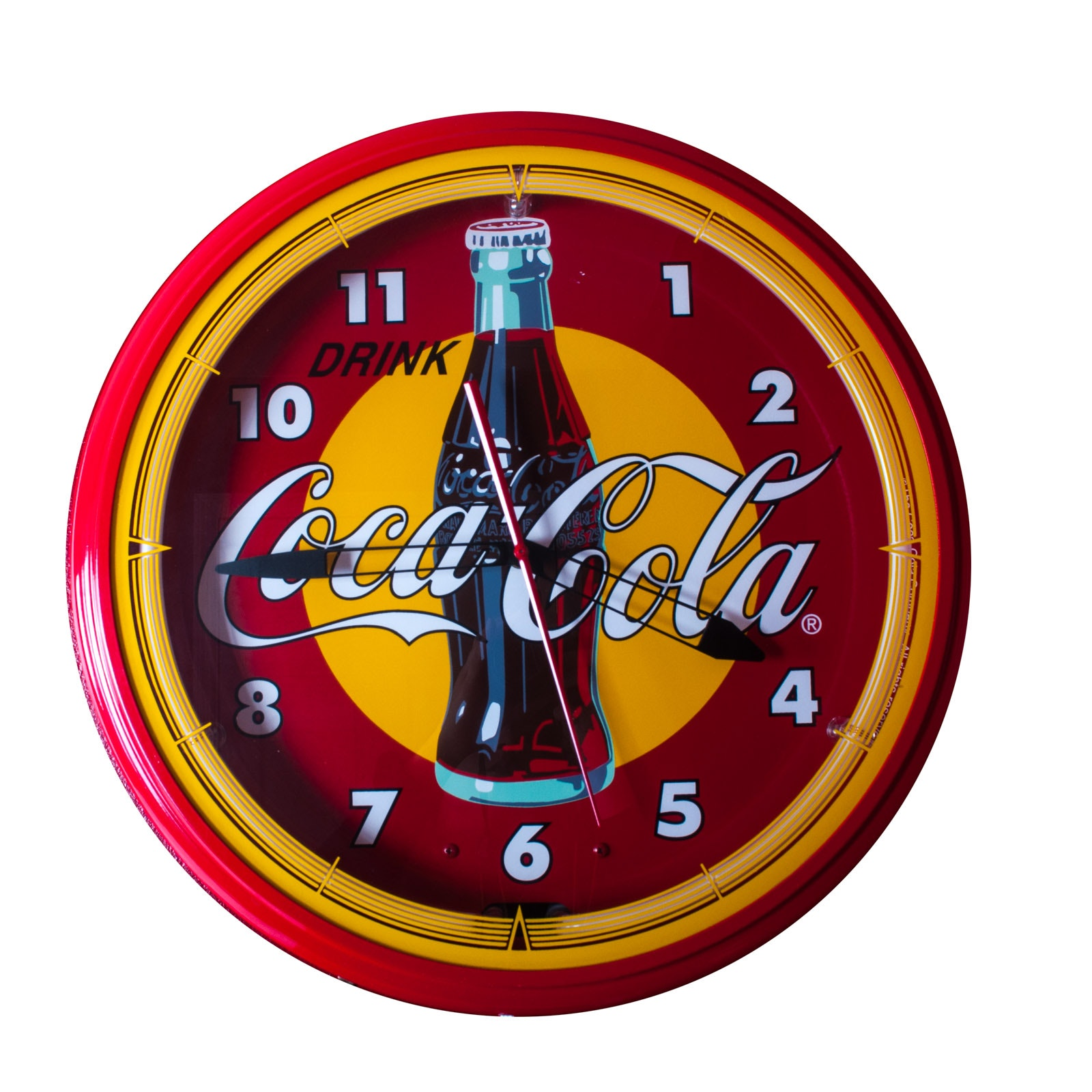 Neon Coca-Cola Wall Clock and Light